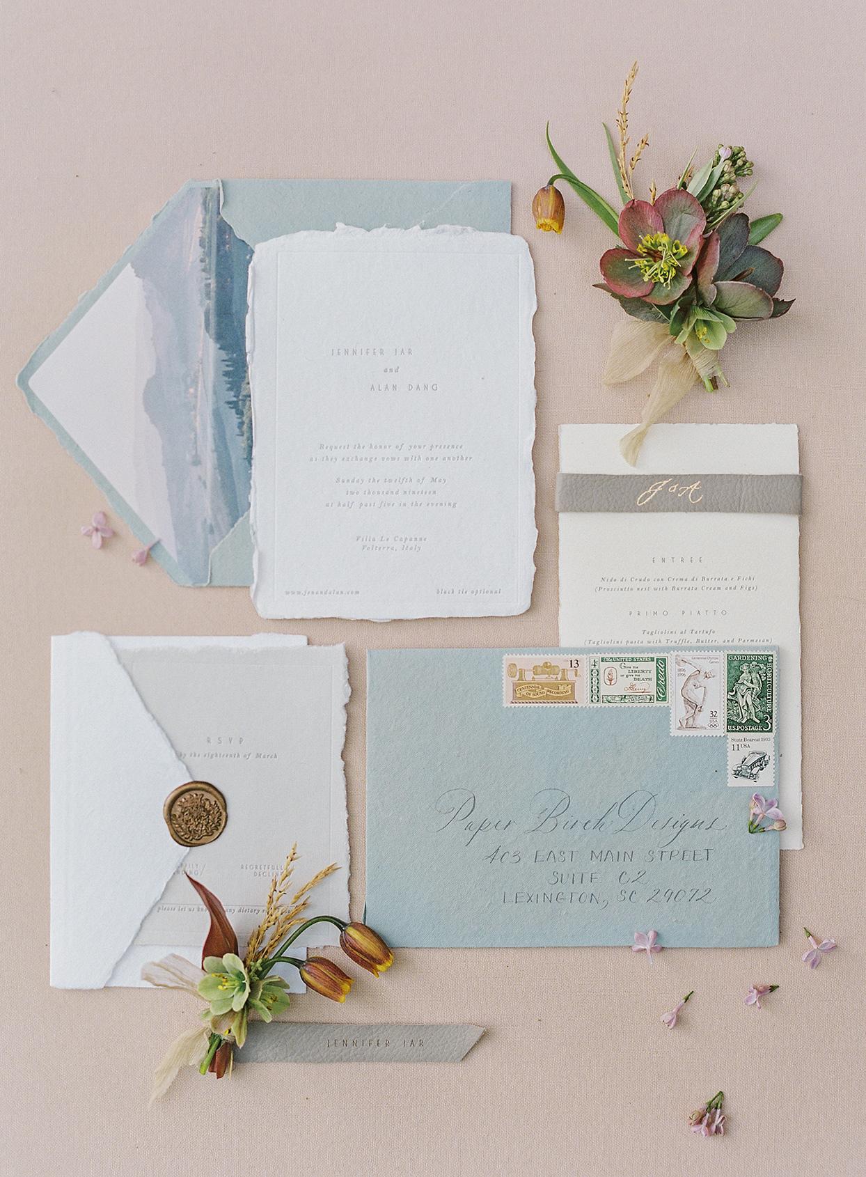 jen alan wedding rustic invitation suite