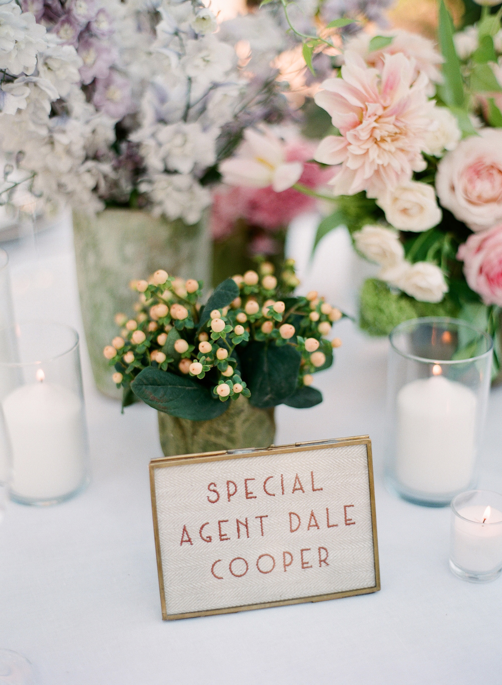 katy michael wedding reception table number character names