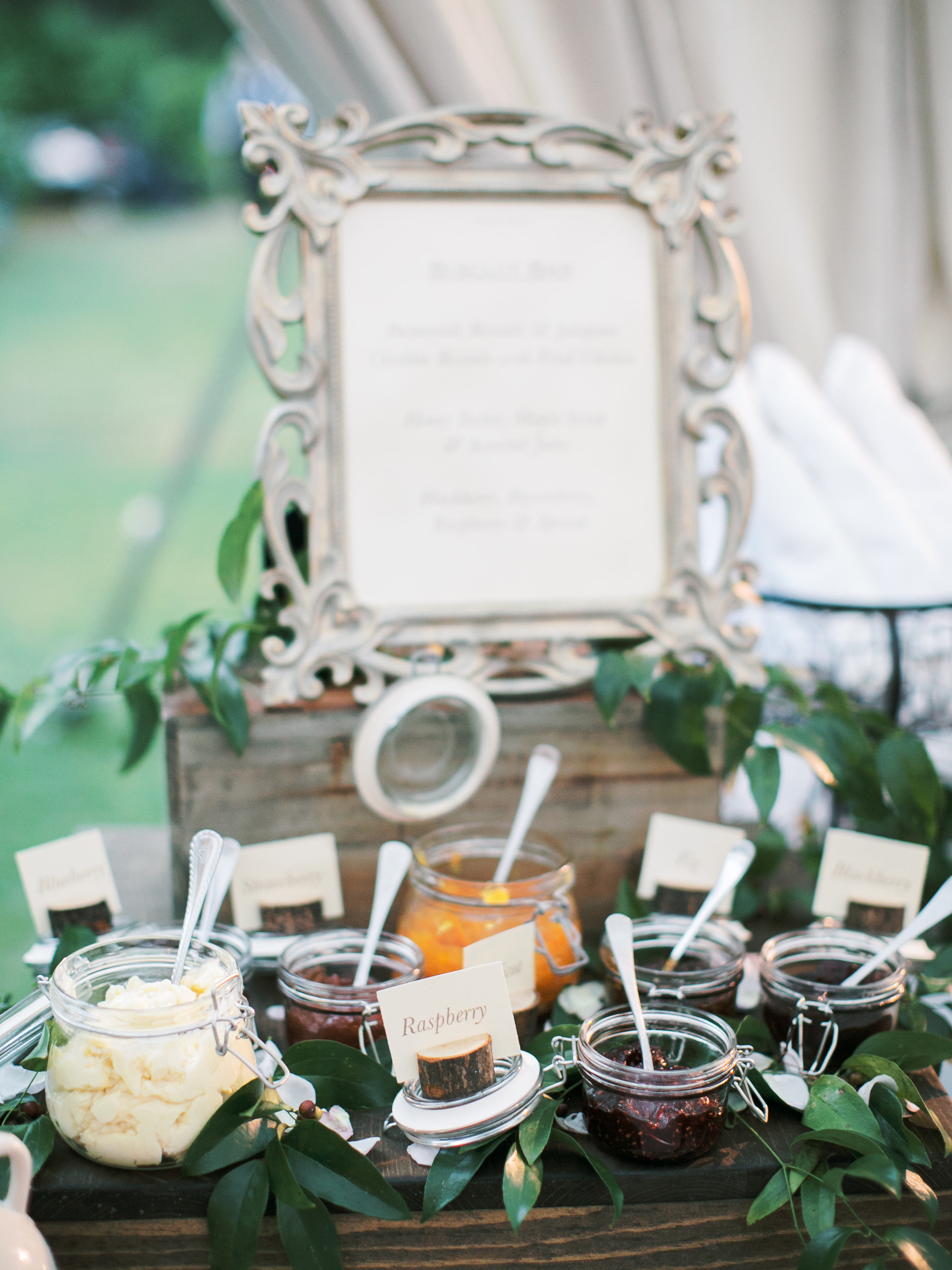 leighton craig wedding biscuit condiments on table