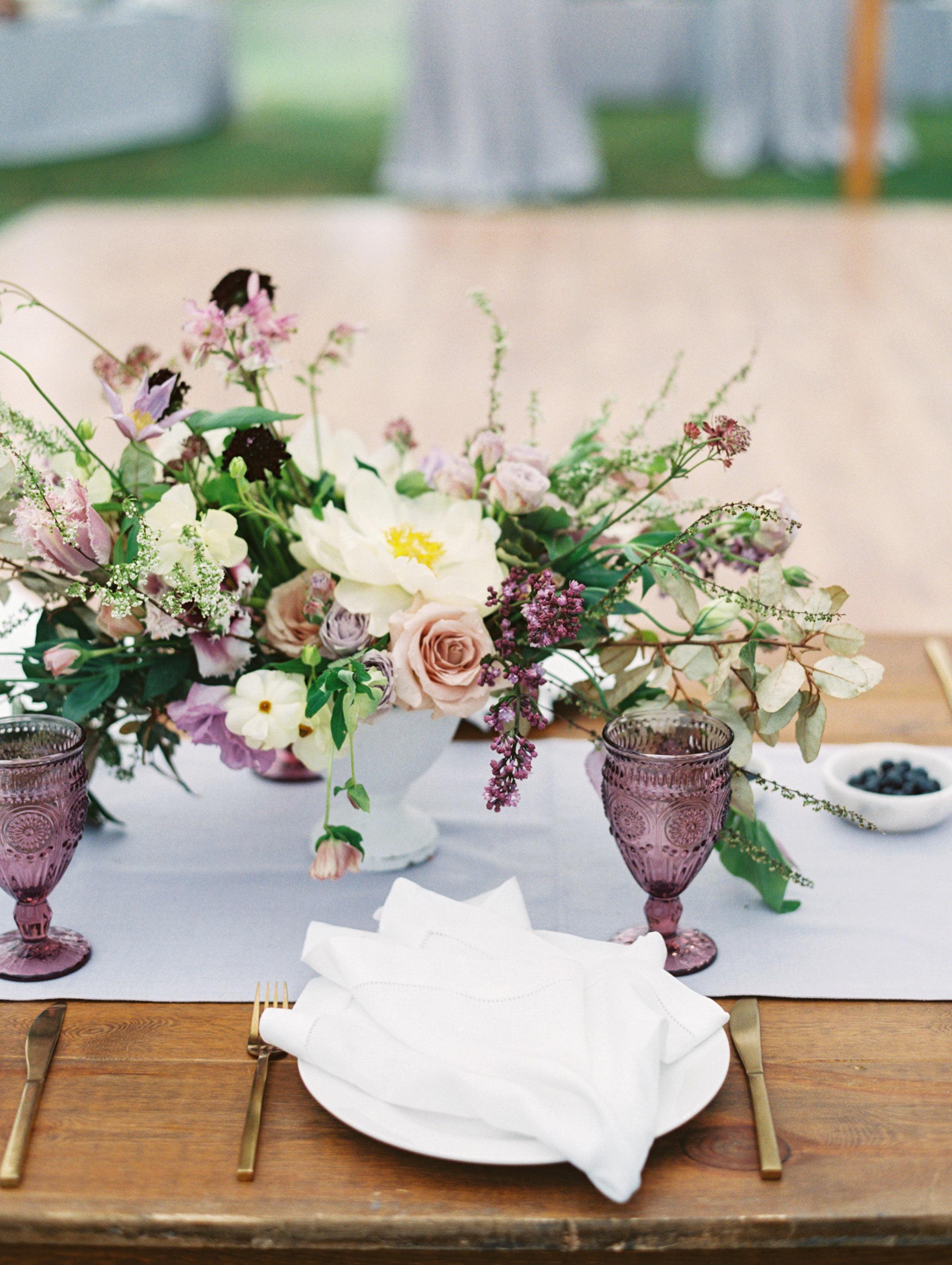 leighton craig wedding reception table centerpiece