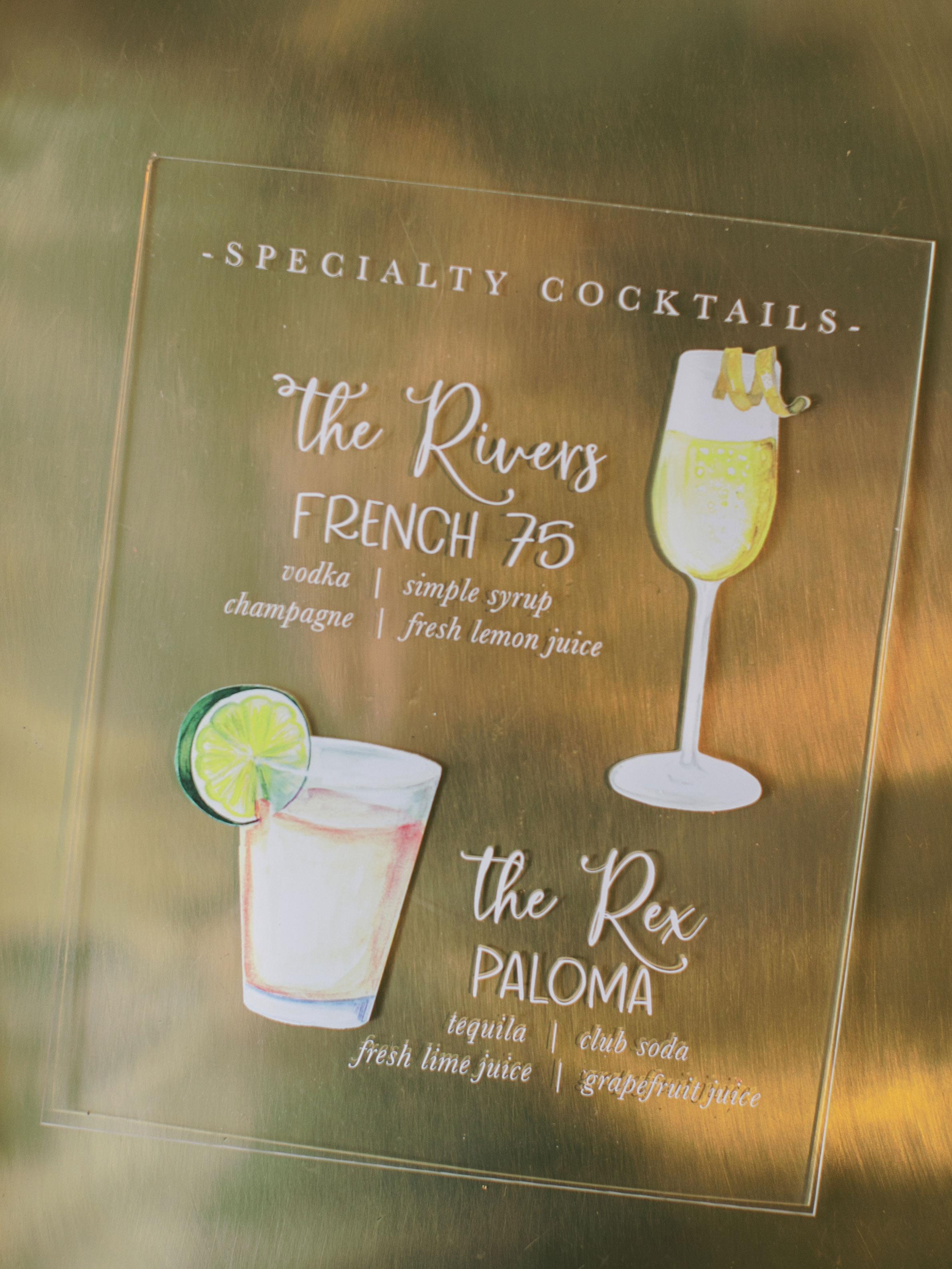 leighton craig wedding cocktail menu