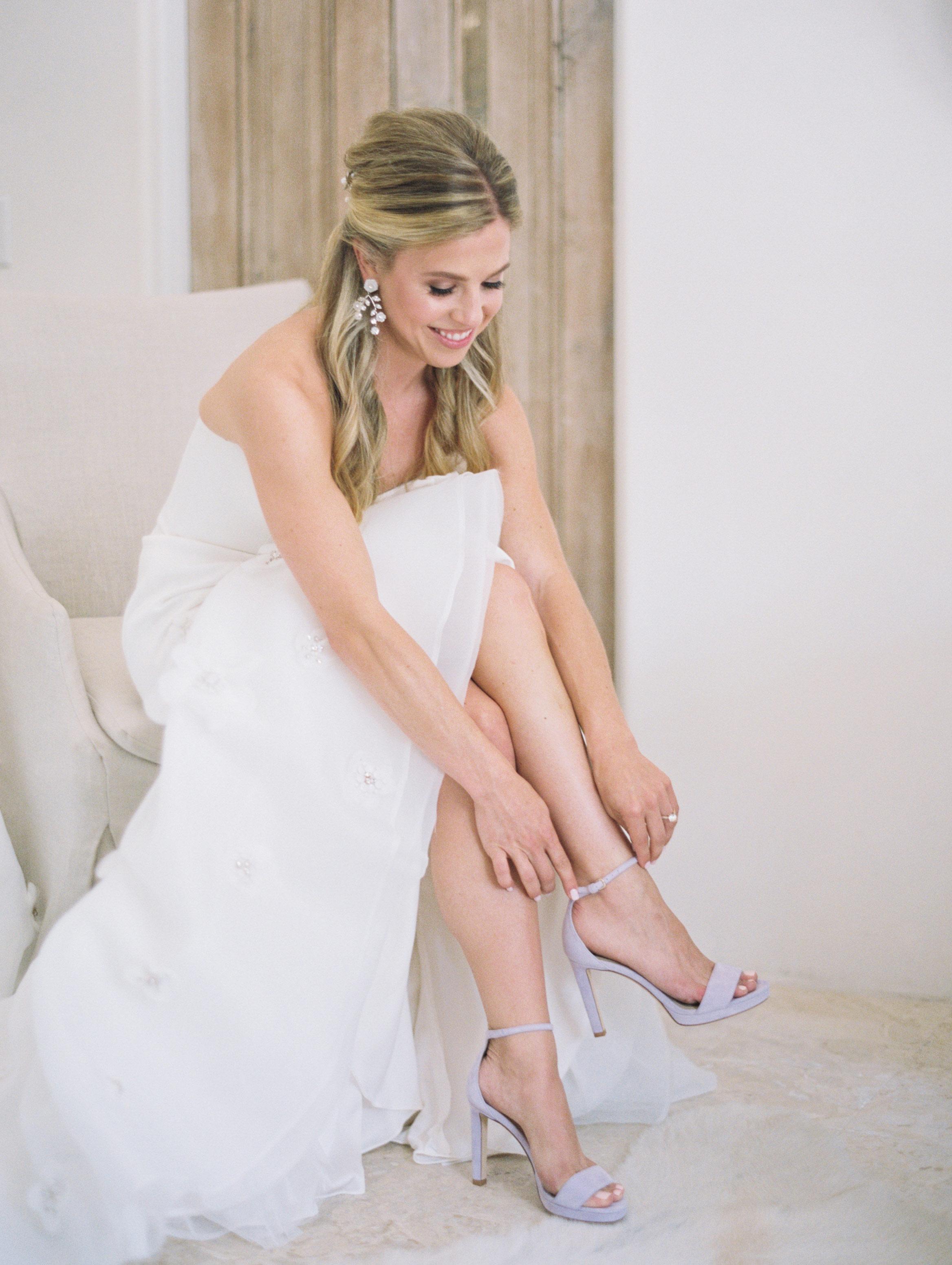 leighton craig wedding lavendar shoes