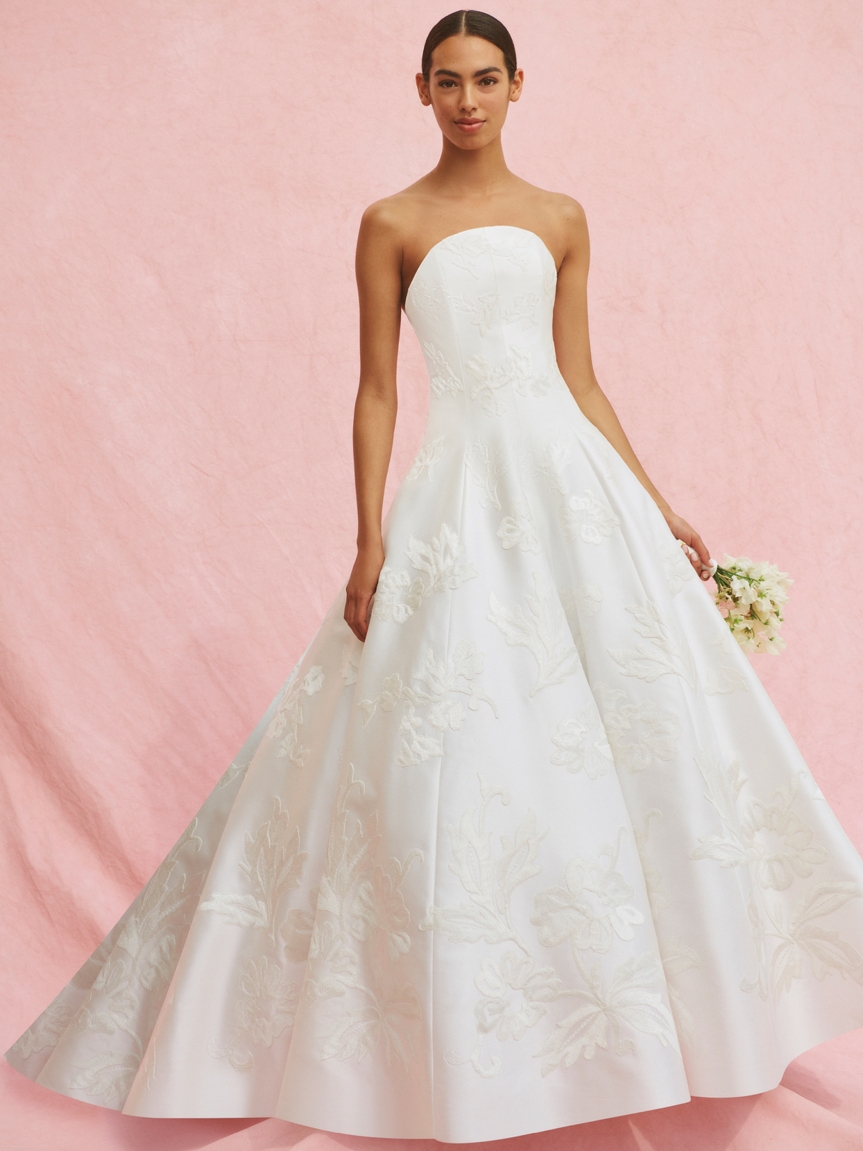carolina herrera strapless drop waist ballgown wedding dress fall 2020