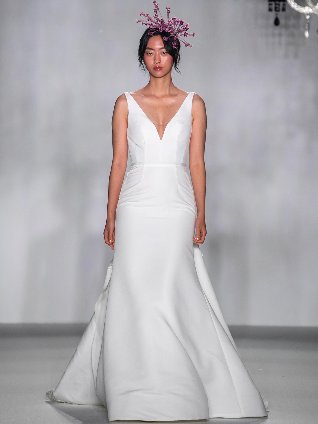 anne barge v neck trumpet wedding dress fall 2020
