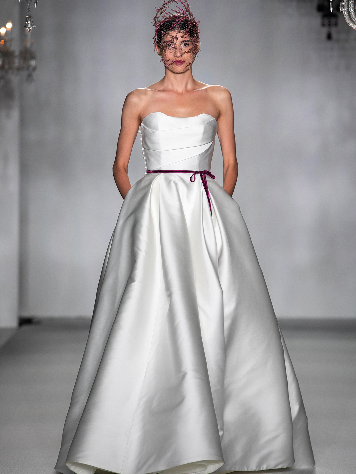 anne barge strapless ball gown wedding dress fall 2020