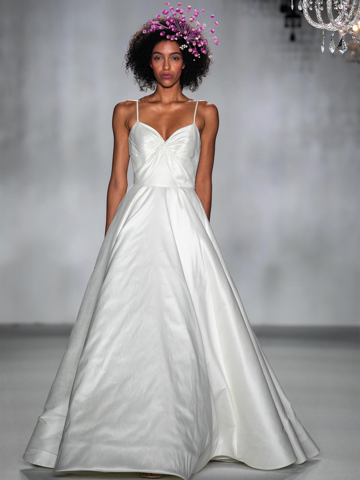 anne barge spaghetti strap a line wedding dress fall 2020
