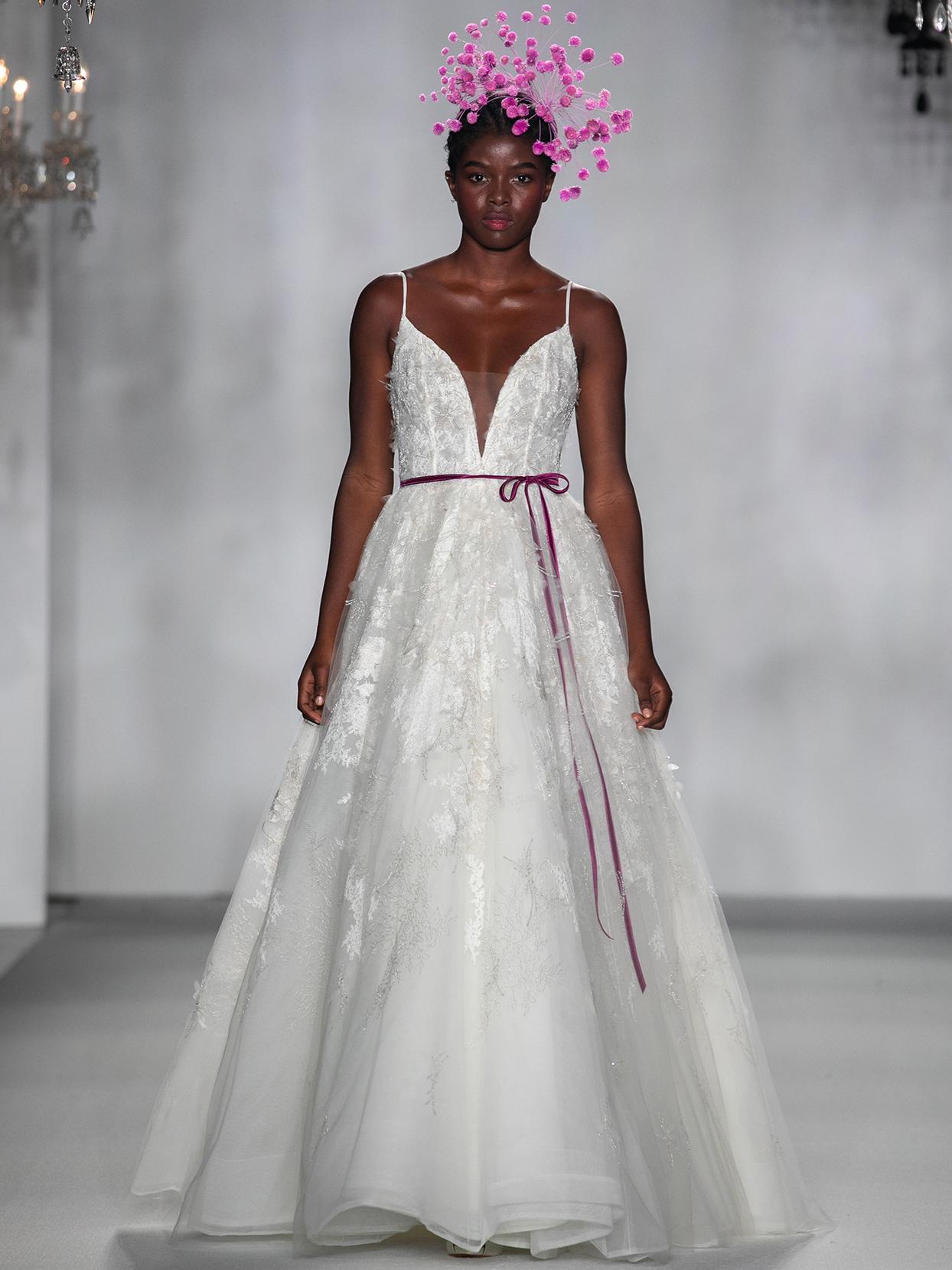 anne barge spaghetti strap plunging v neck wedding dress fall 2020
