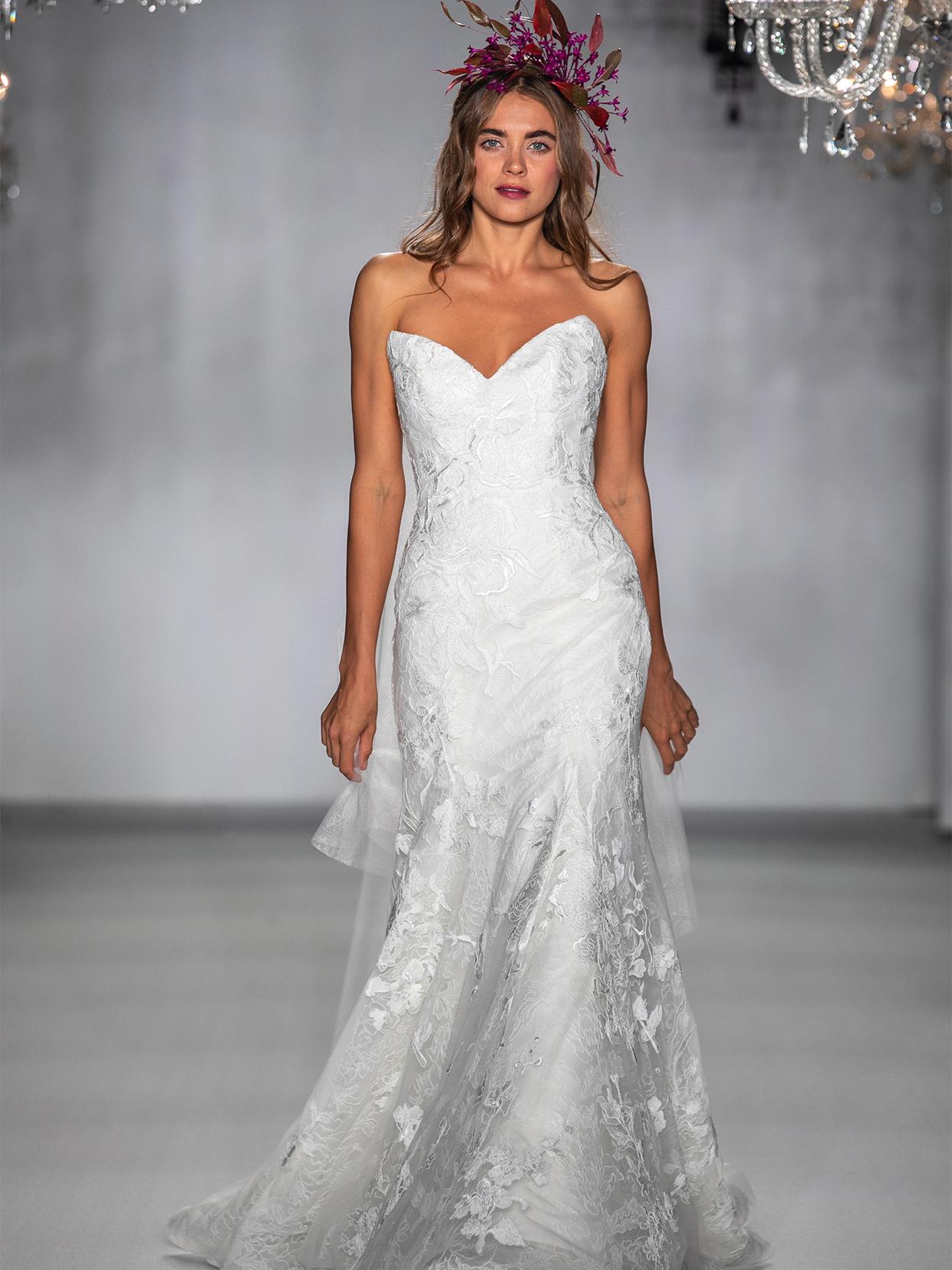 anne barge strapless mermaid wedding dress fall 2020