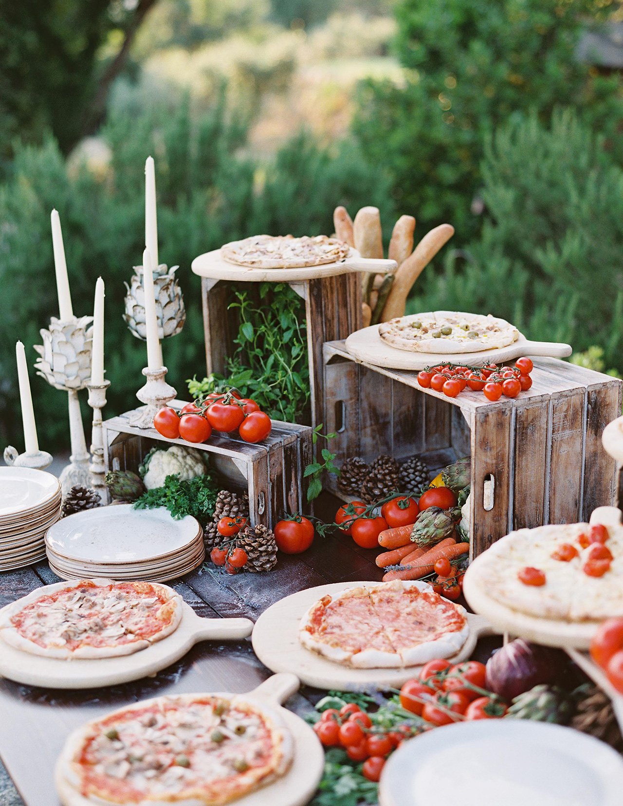 pizza stand welcome party outdoor display