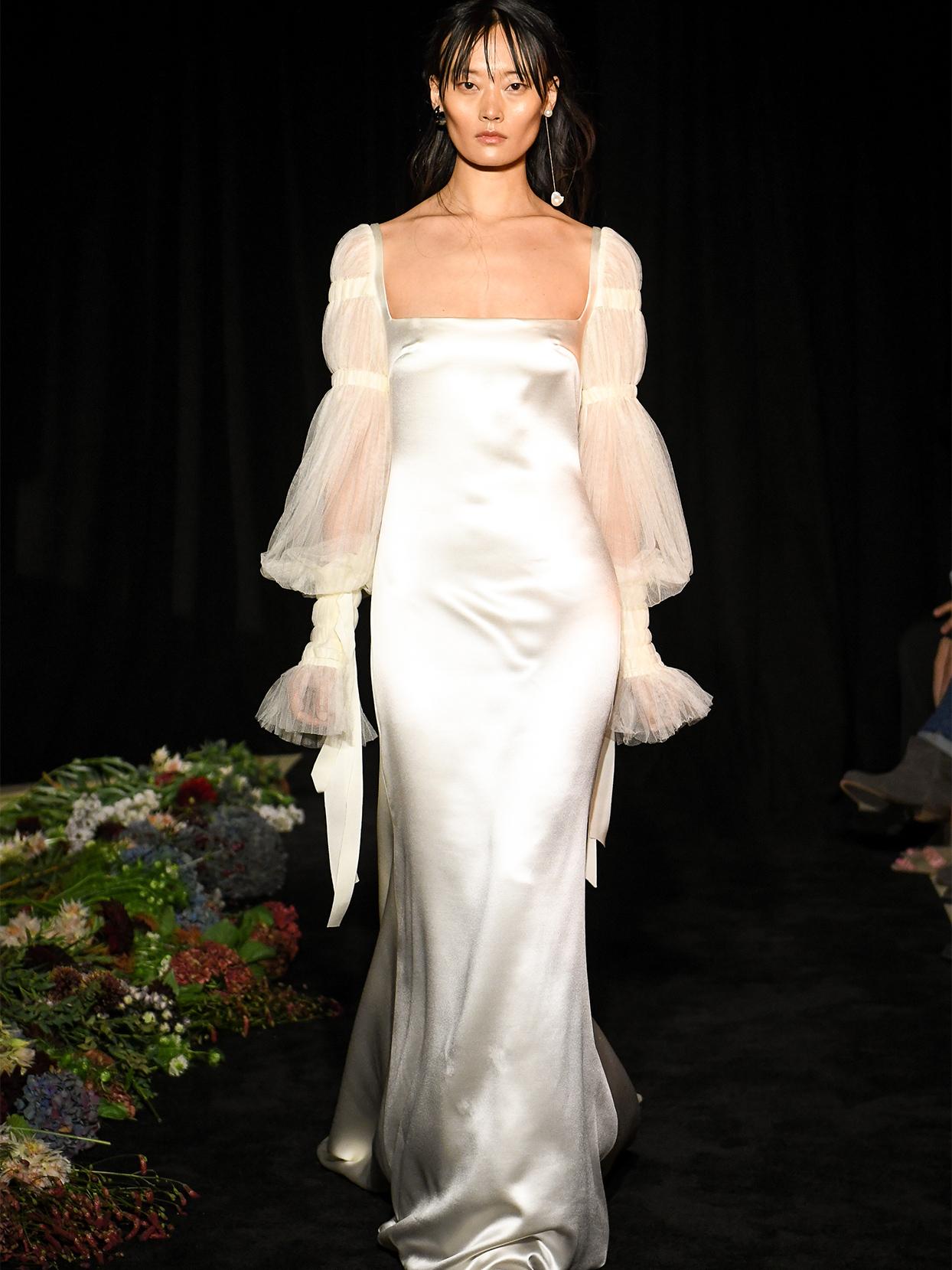 danielle frankel square neck mermaid wedding dress fall 2020