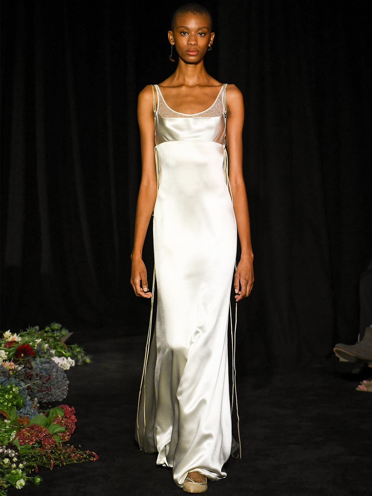 danielle frankel round neck mermaid wedding dress fall 2020