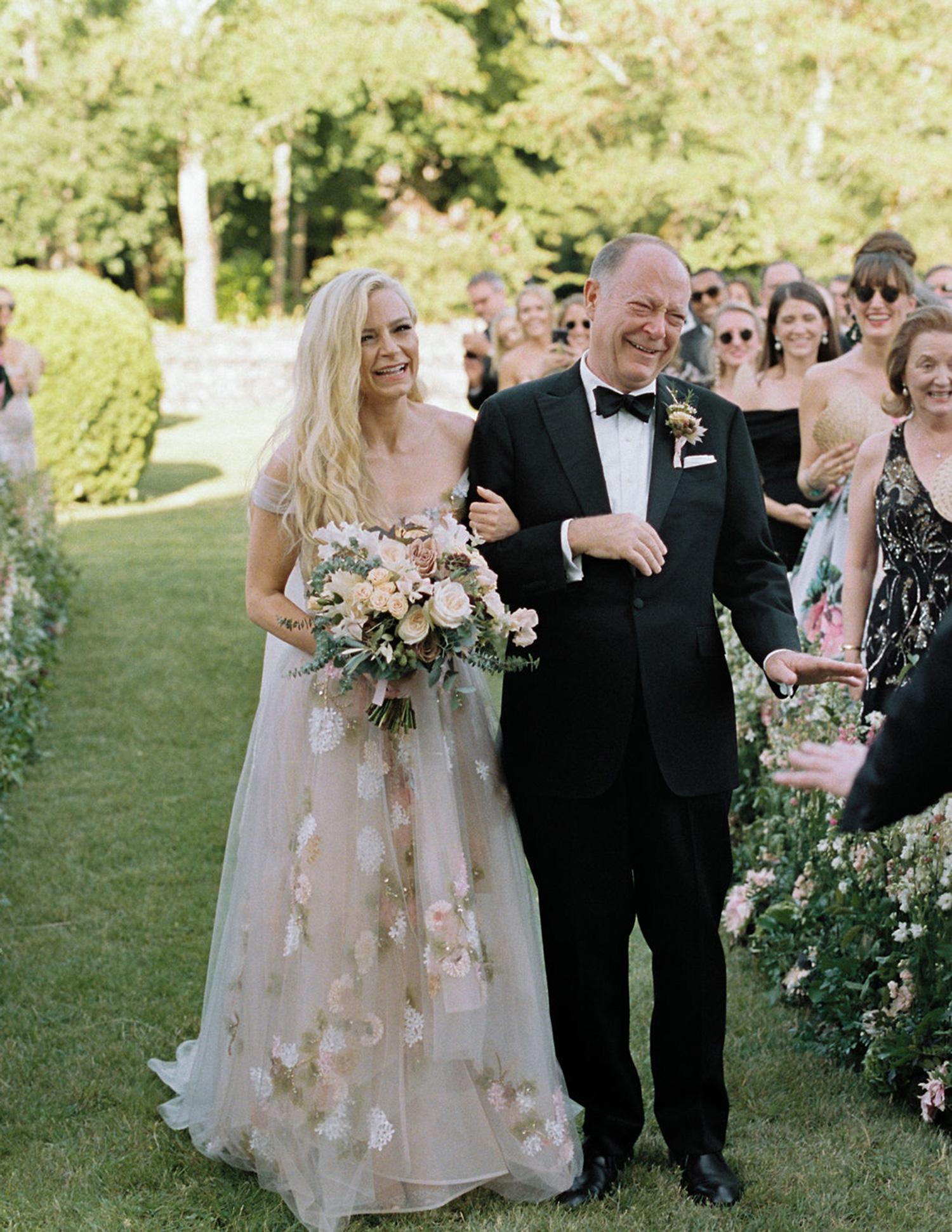 wedding processional Asheton and father