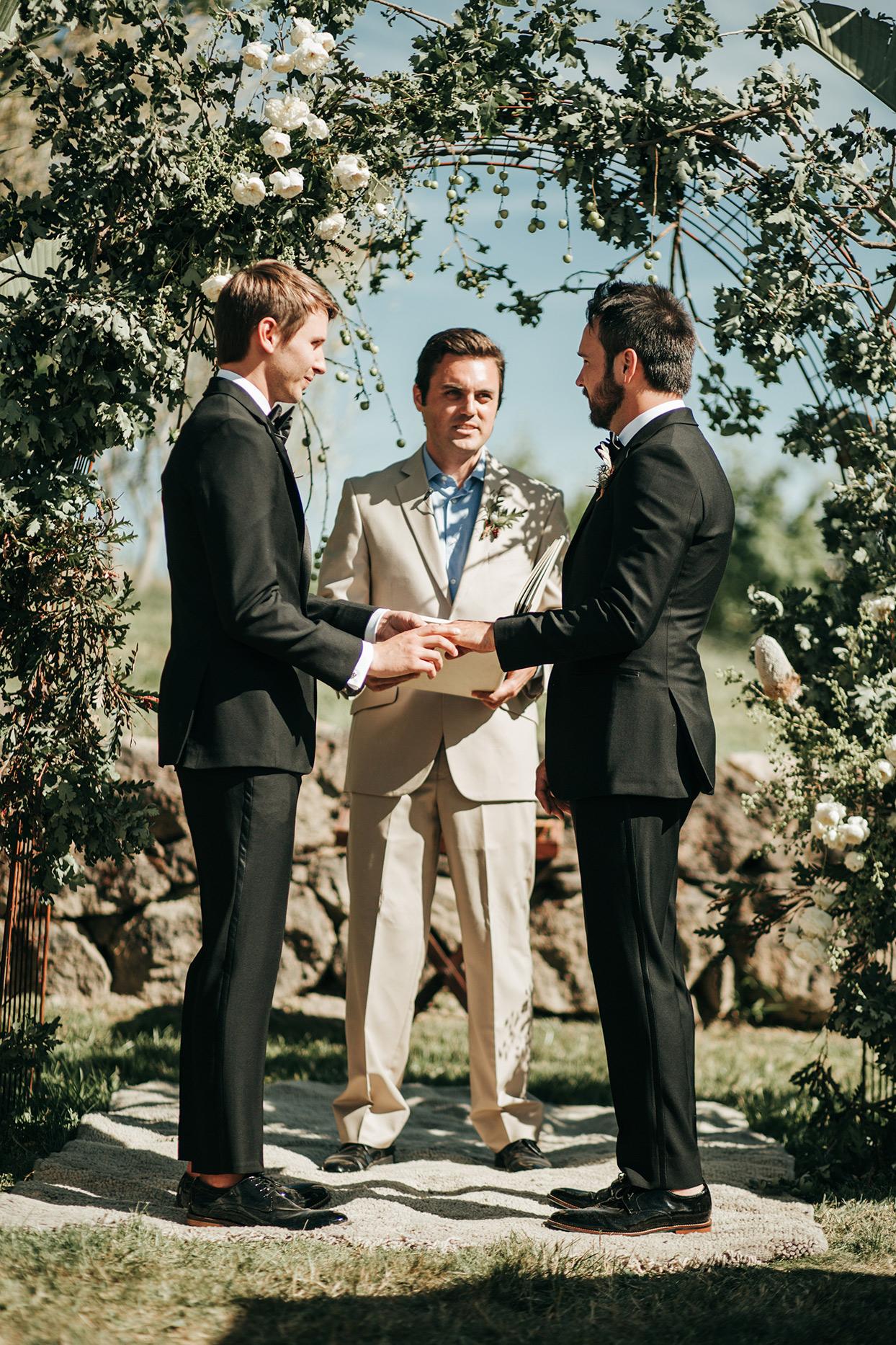 austin alex wedding ceremony rings