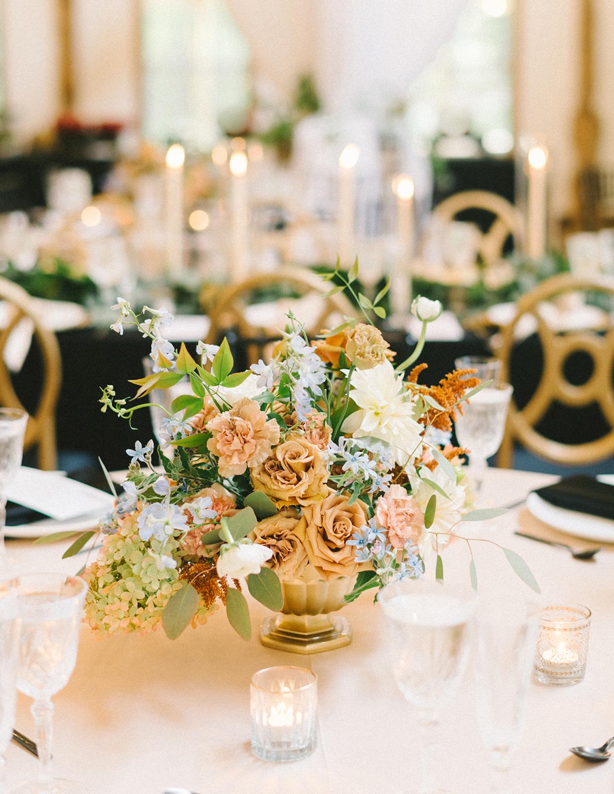 ericka meechaeyl wedding floral centerpiece