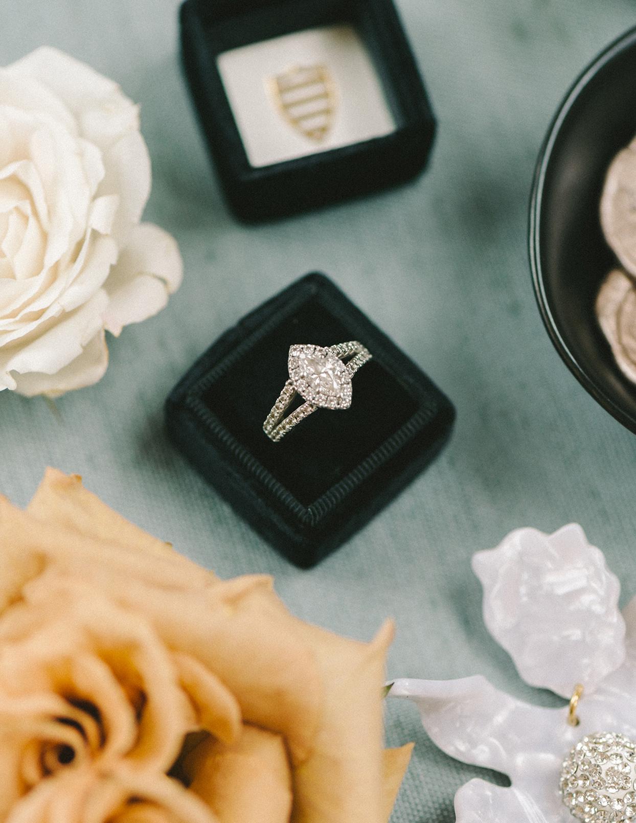 ericka meechaeyl wedding engagement ring in box