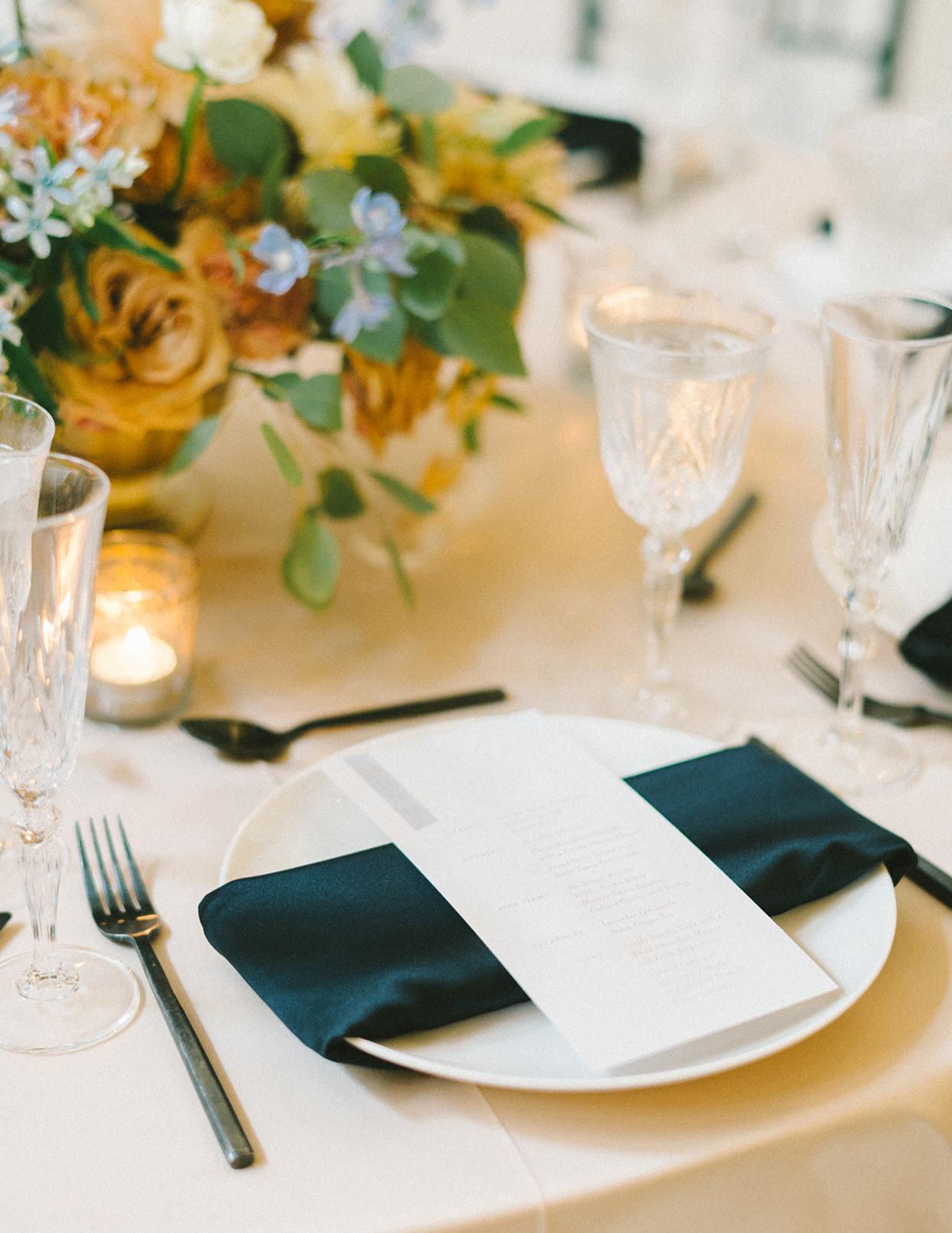 ericka meechaeyl wedding place setting at table