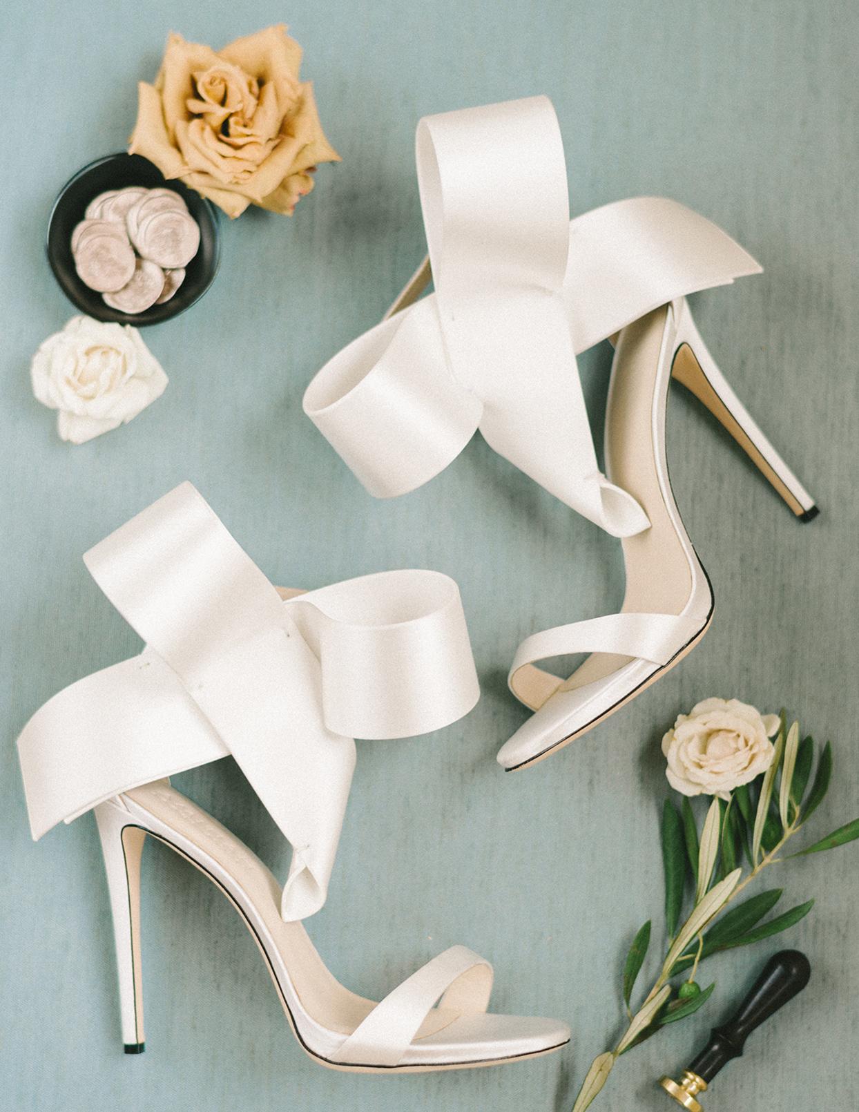 ericka meechaeyl wedding bride's white shoes