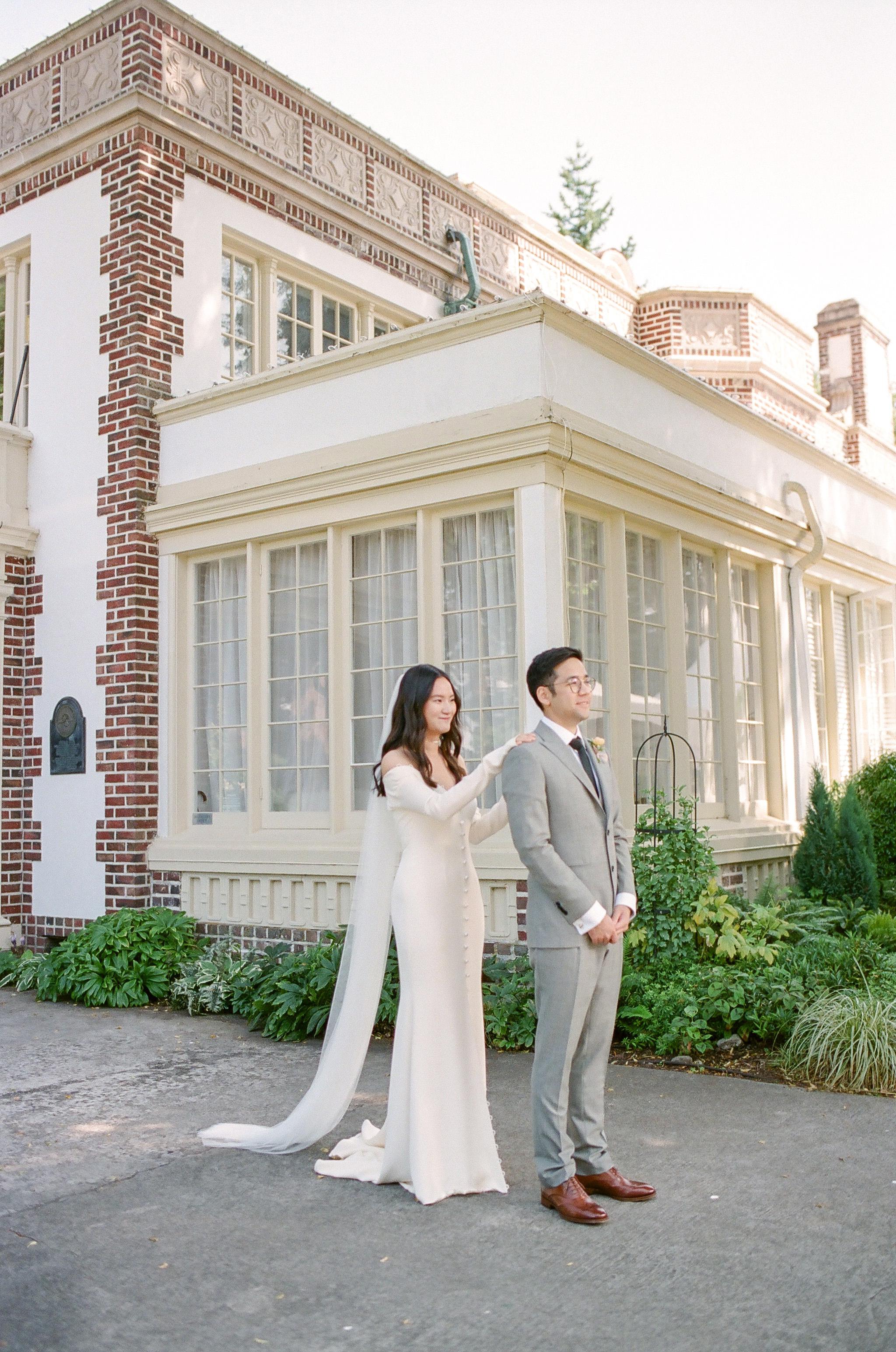 evelyn sam wedding emotional wedding pose