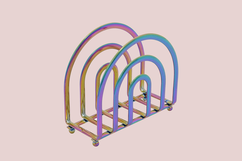 DINY Home & Style Rainbow Deluxe Steel Napkin Holder