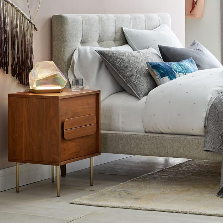 iridescent bedside table decor