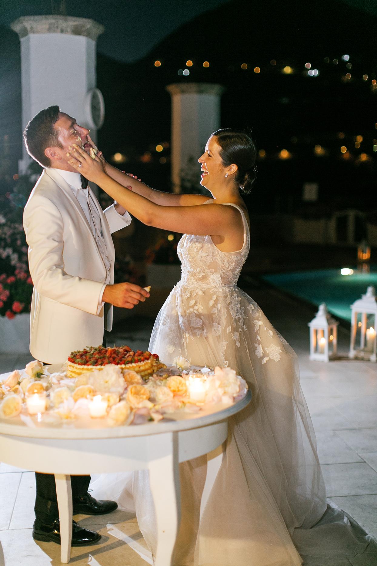 jacqueline david wedding couple cake smash