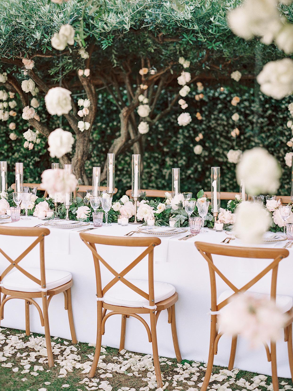 jacqueline david wedding reception table white decoration