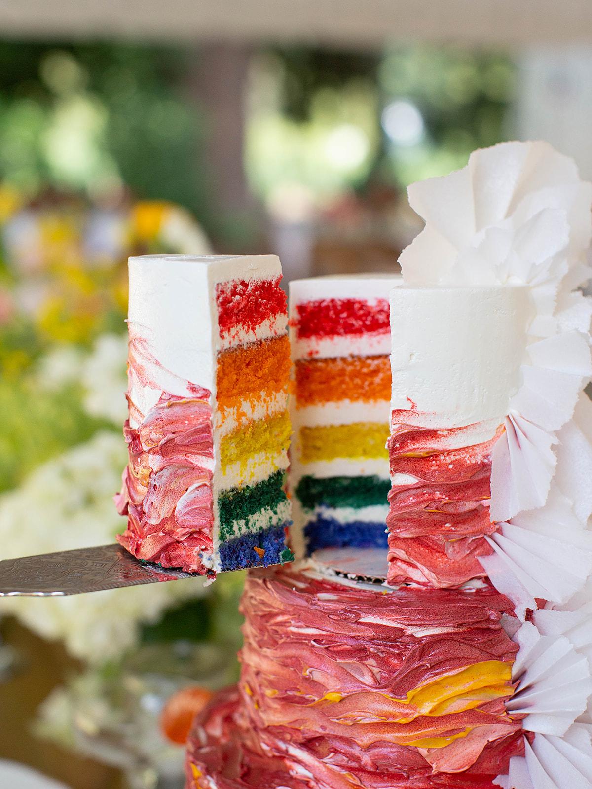 justin kevin wedding pride cake