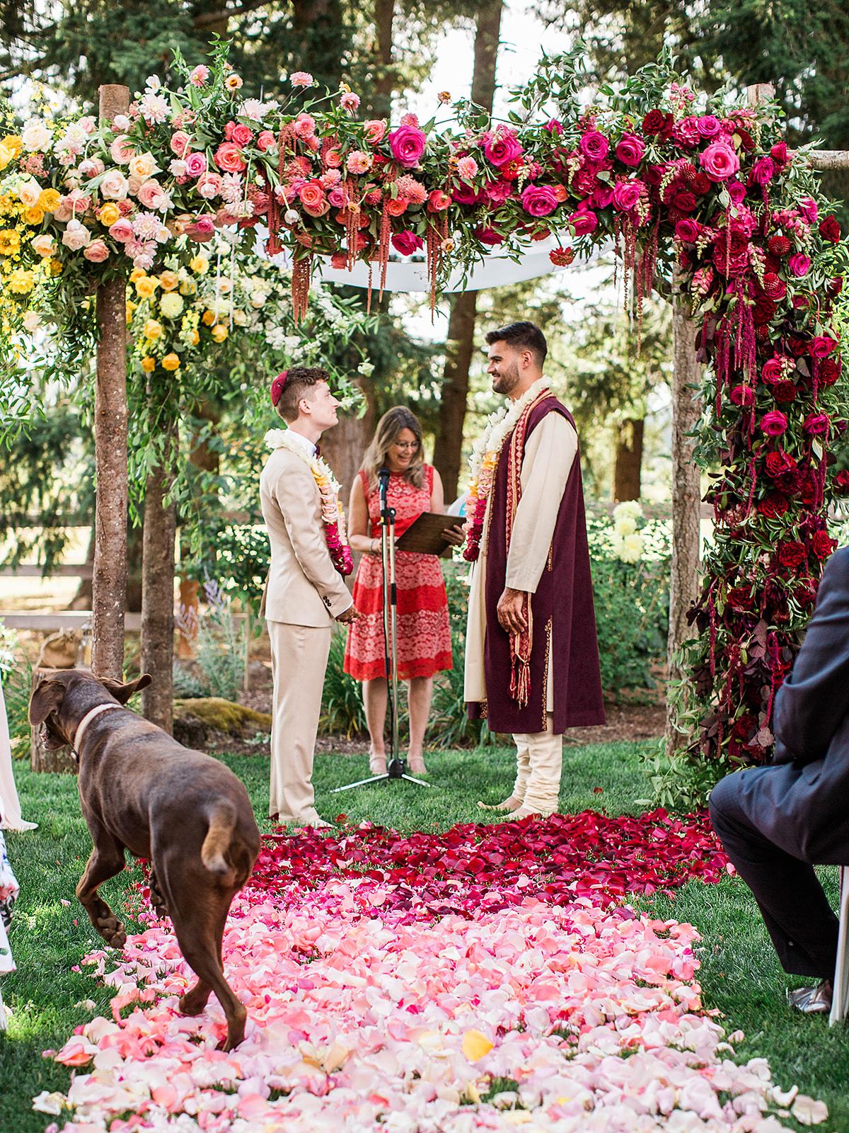 justin kevin wedding ceremony under alter
