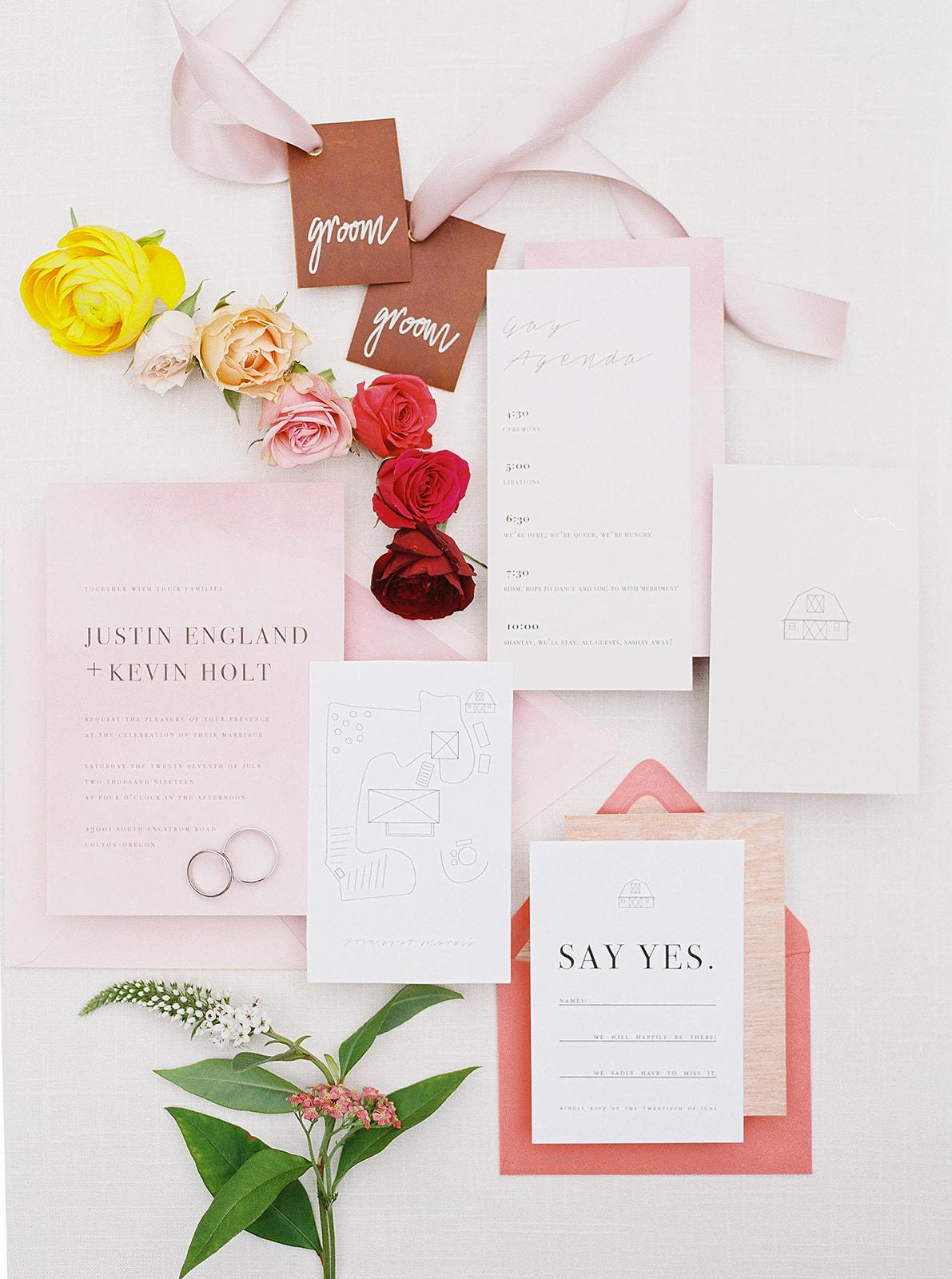 justin kevin wedding invitation designs