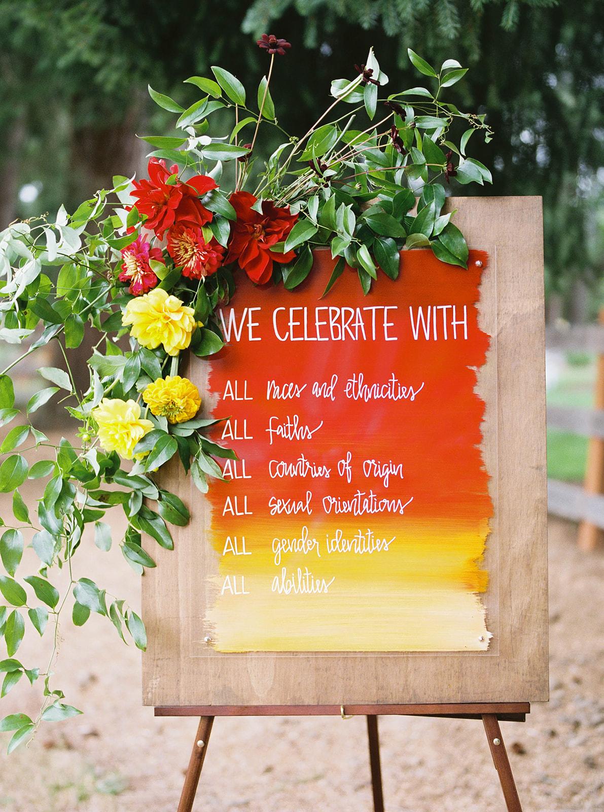 justin kevin wedding sign