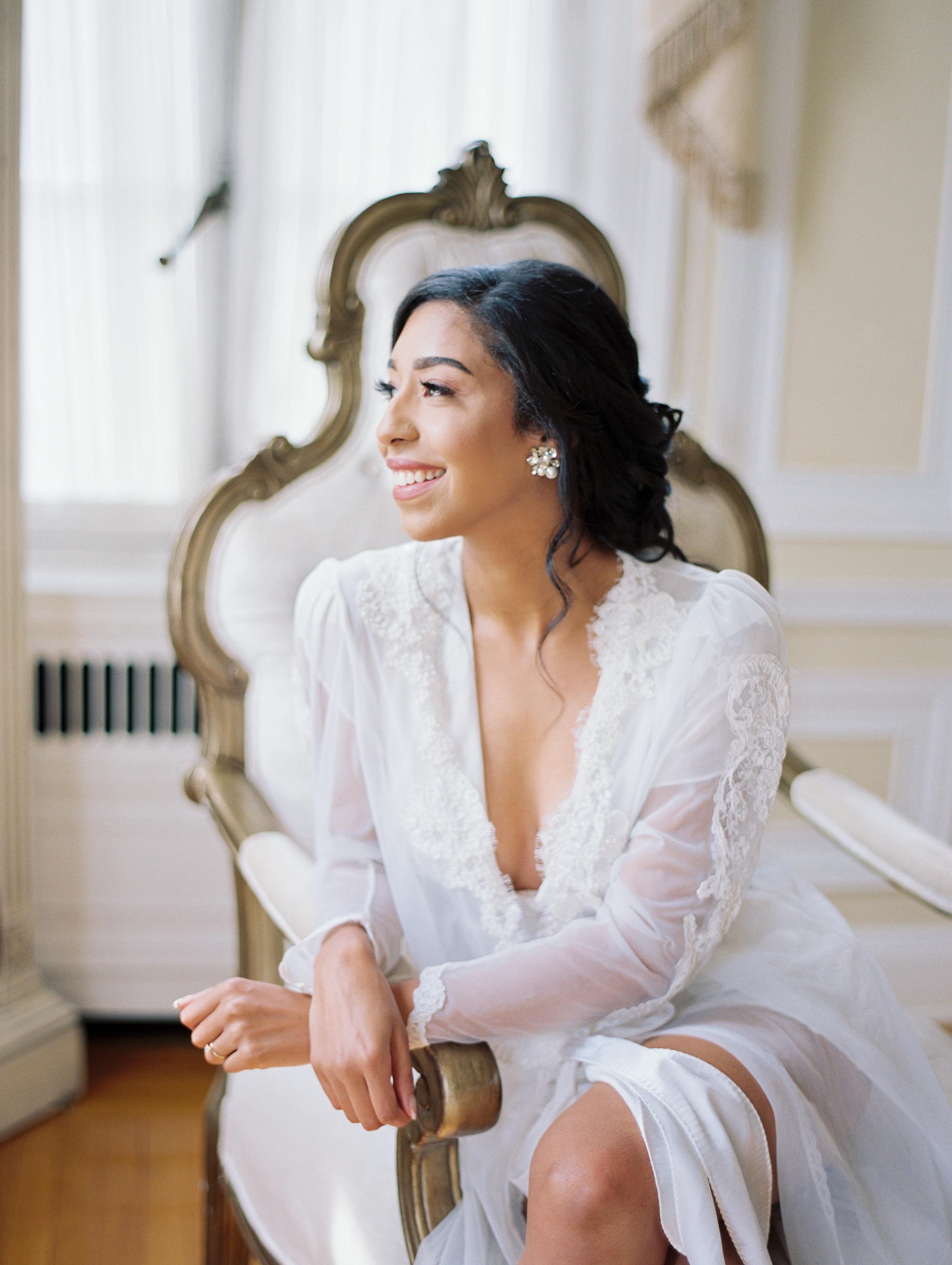 macey joshua bride robe portrait