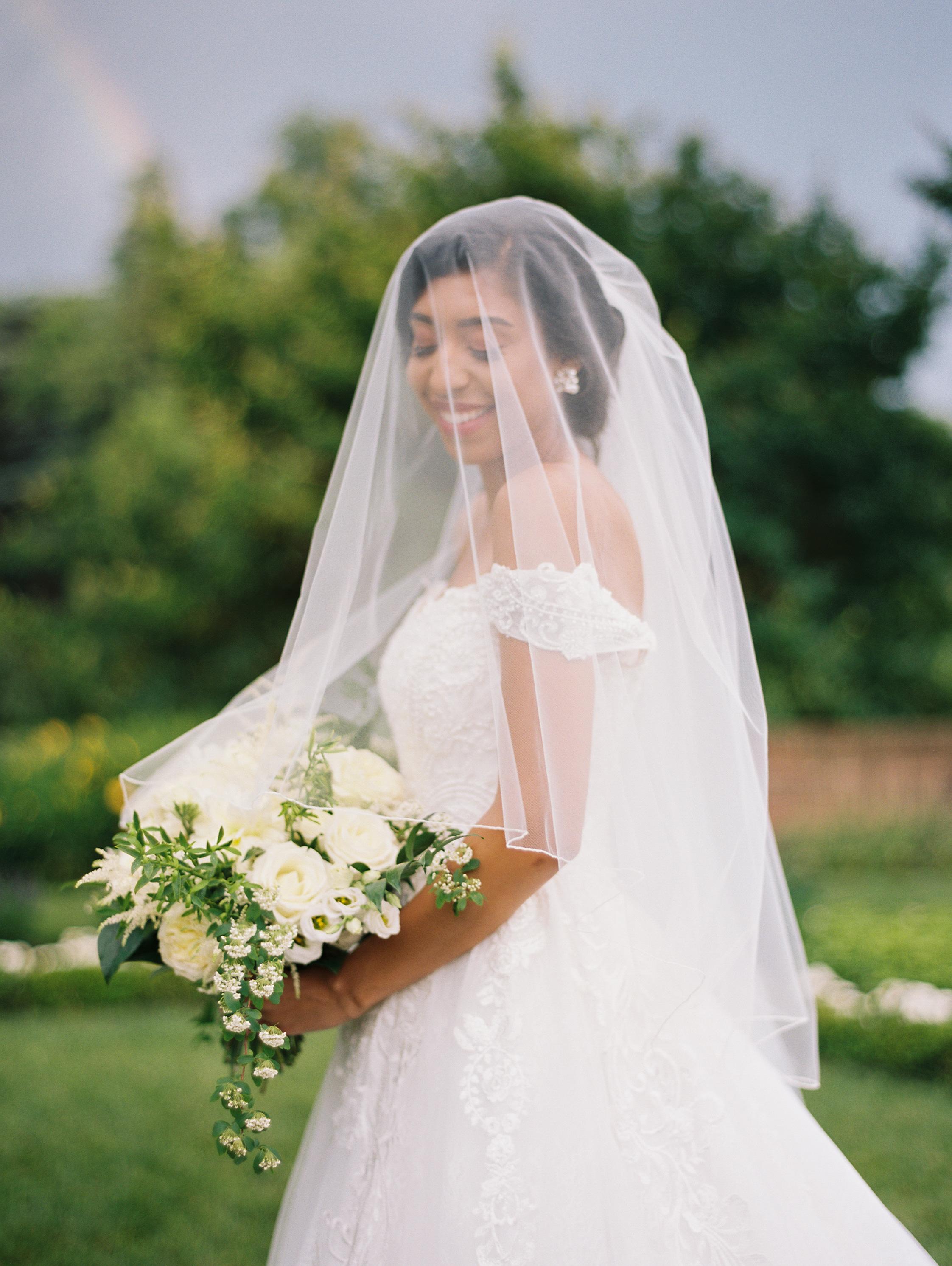 macey joshua wedding bride holding bouquet