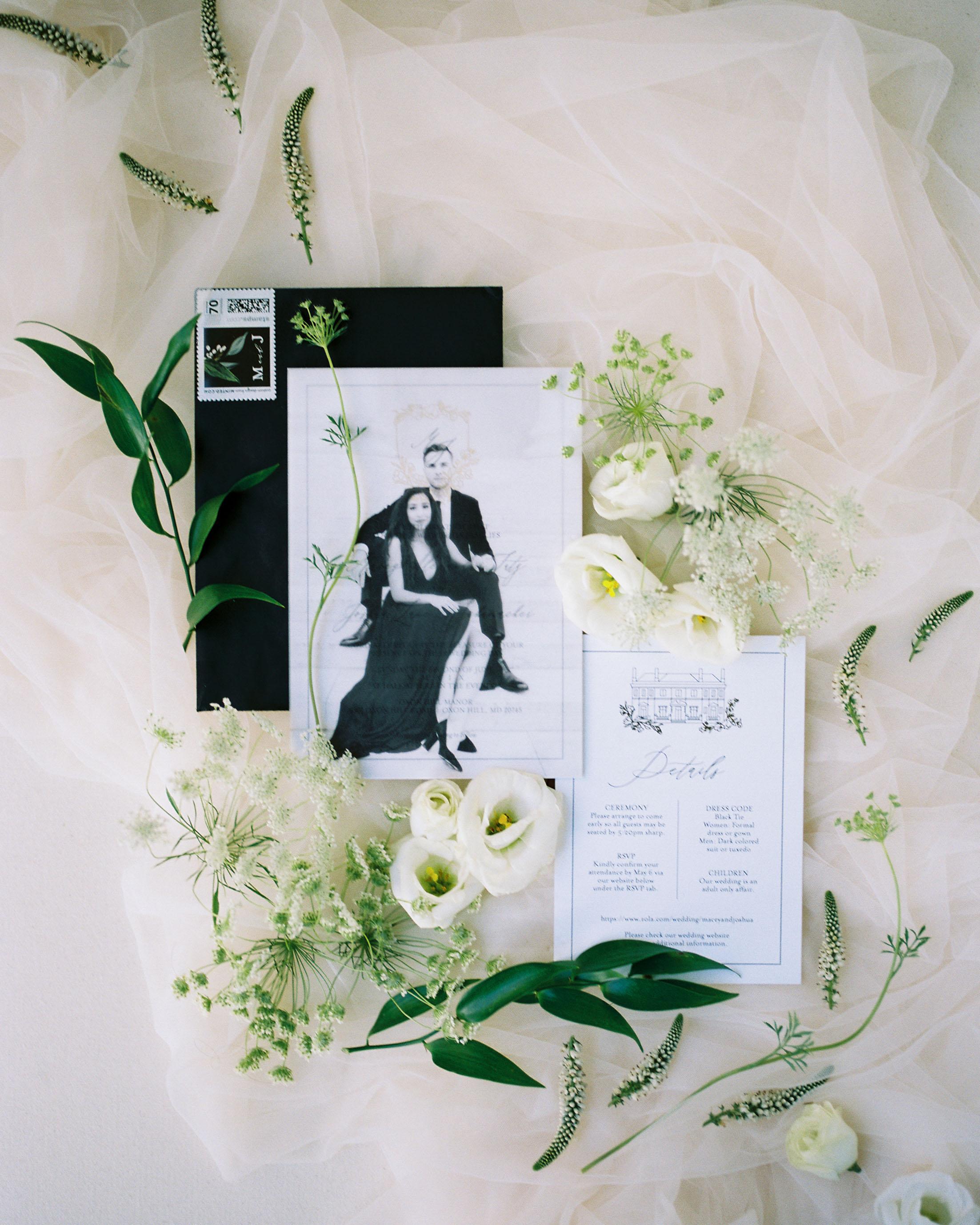 macey joshua wedding invitations