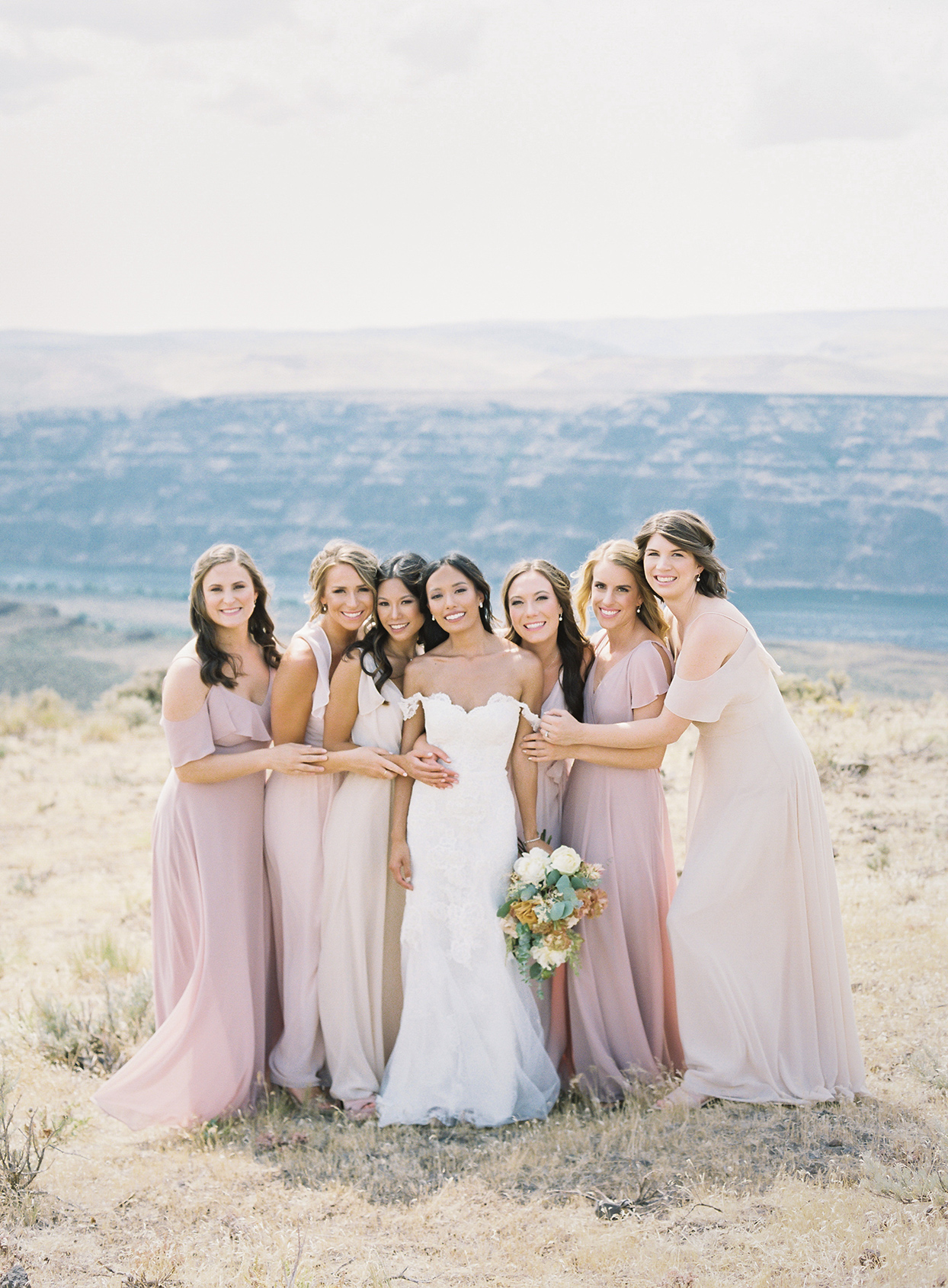 micaela curtis wedding bridesmaids in field