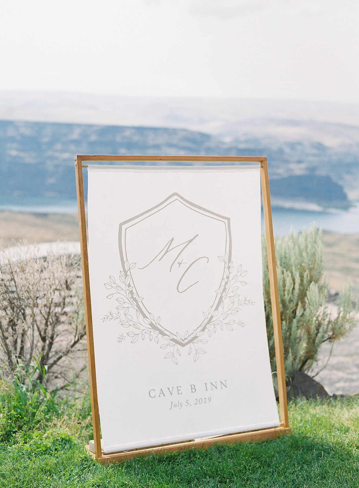 micaela curtis wedding sign cave b inn location