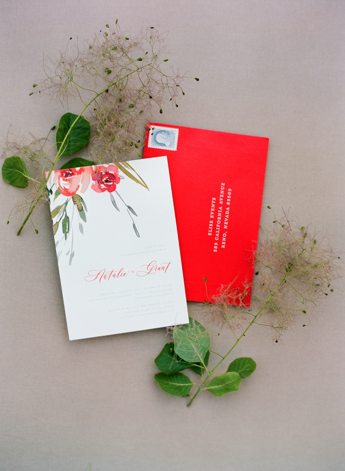 natalie grant rehearsal dinner invitations