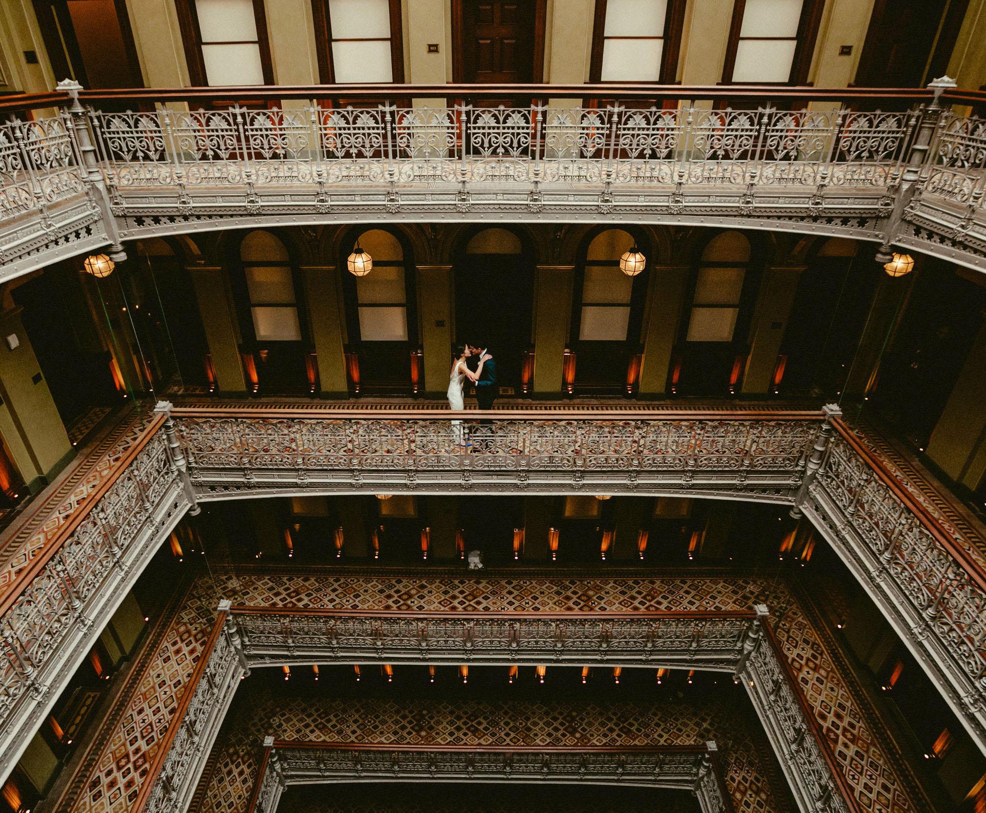 Luxurious suites nine-story atrium