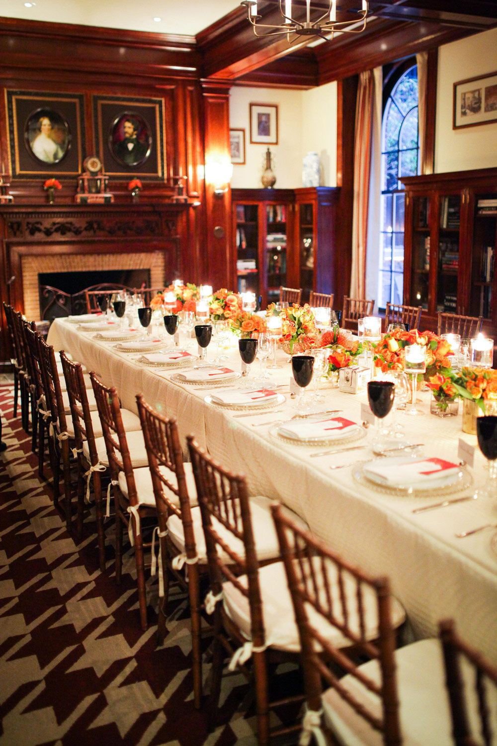historical building club red dining room