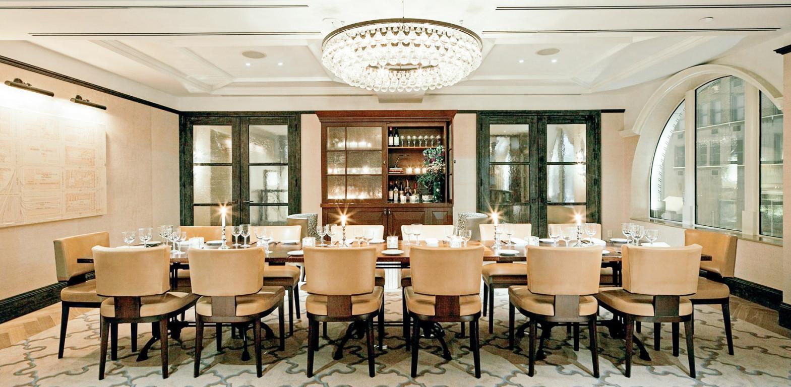 Benjamin Hotel private dining room