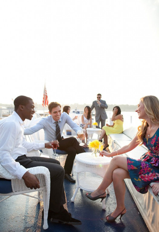 wedding venue yacht open bar