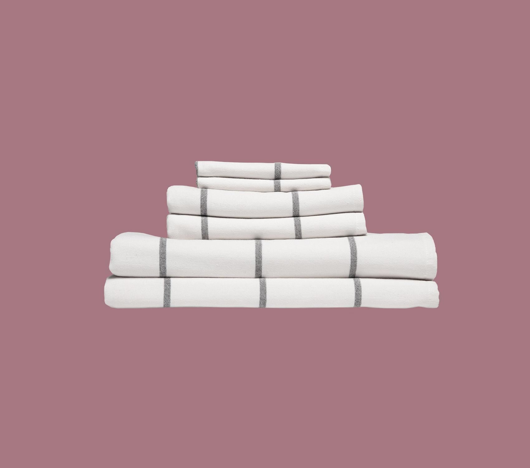 Fouta Stripe Bath Towels