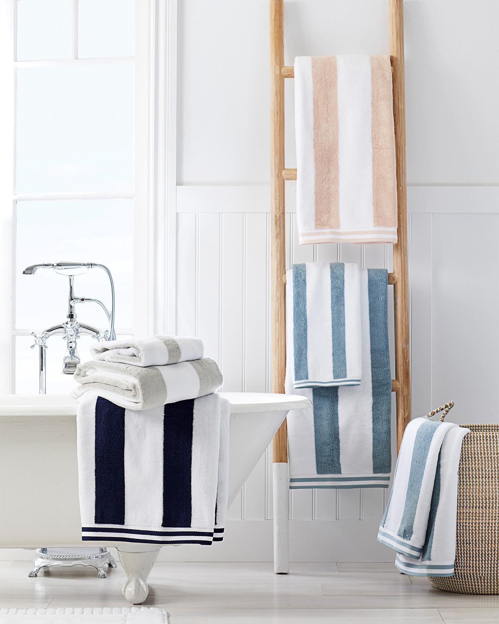 striped bath towels