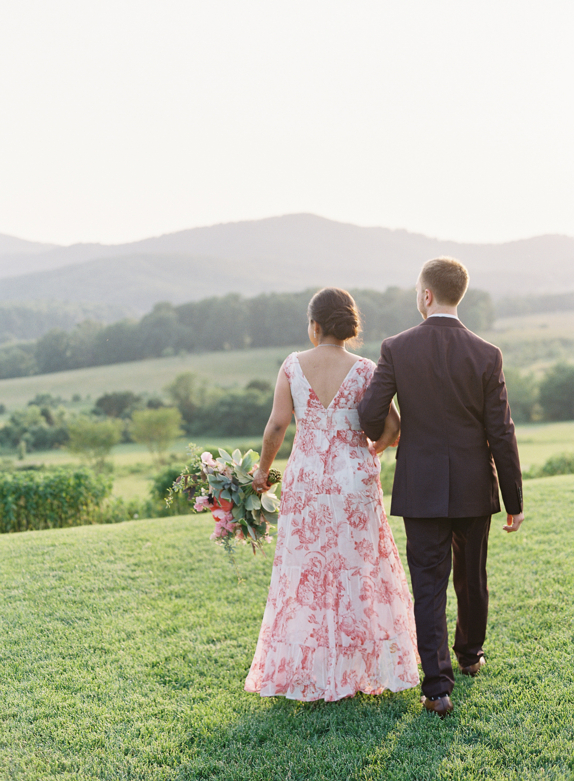 ronita ryan wedding couple walking