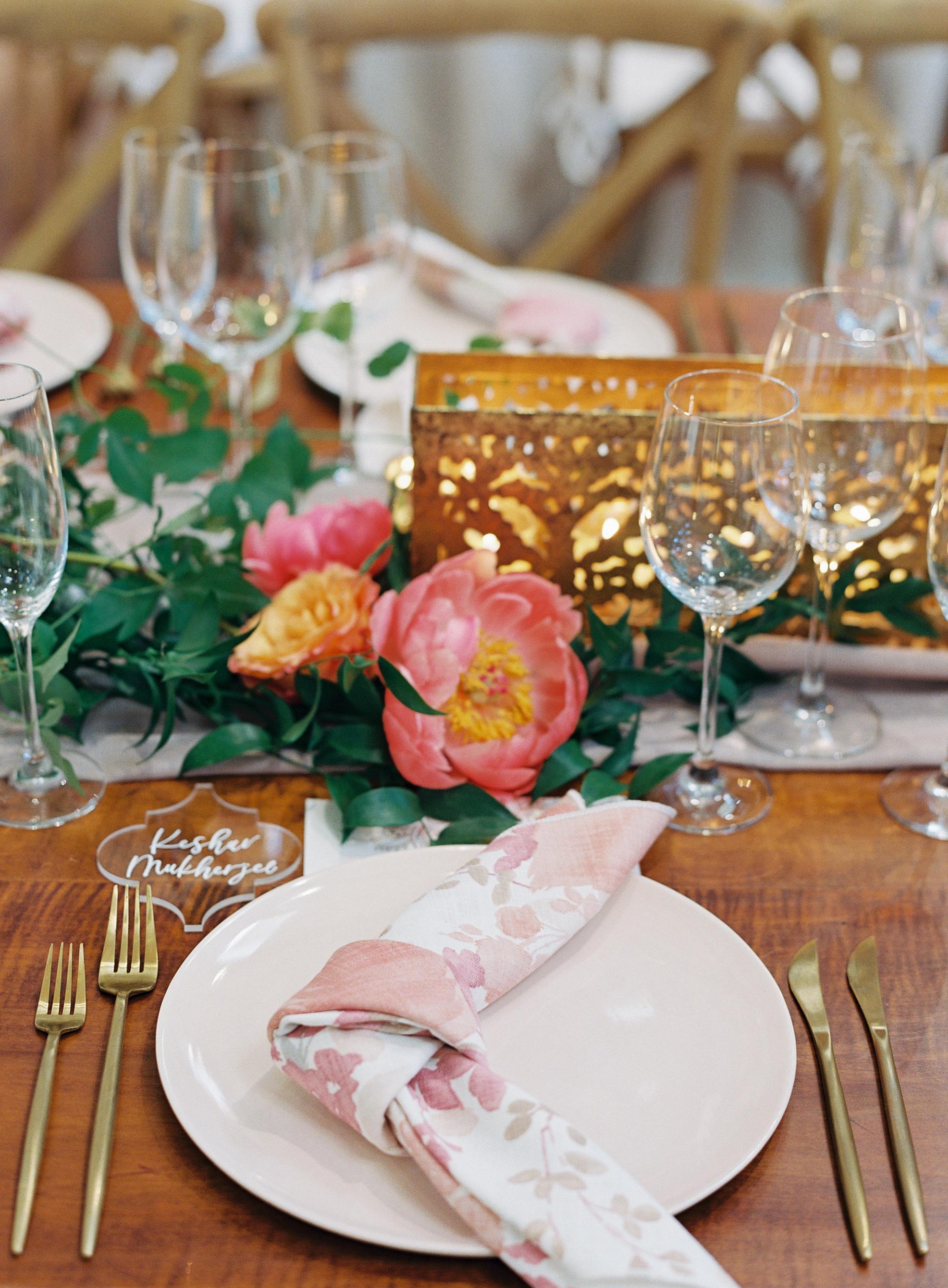 ronita ryan wedding reception place settings