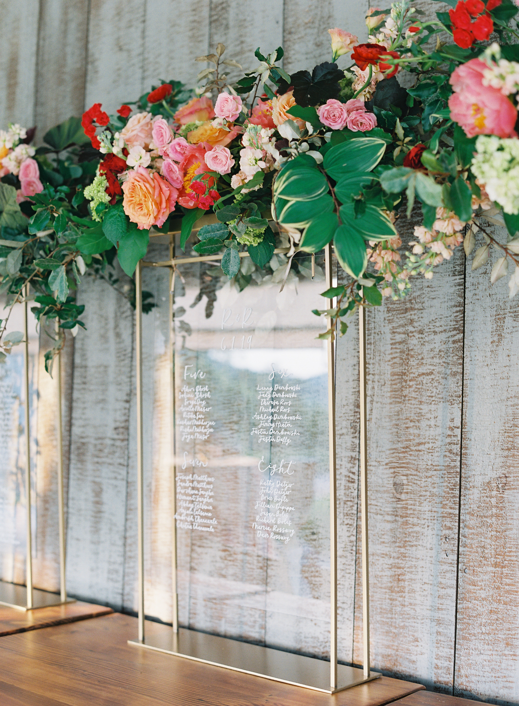 ronita ryan wedding glass seating chart