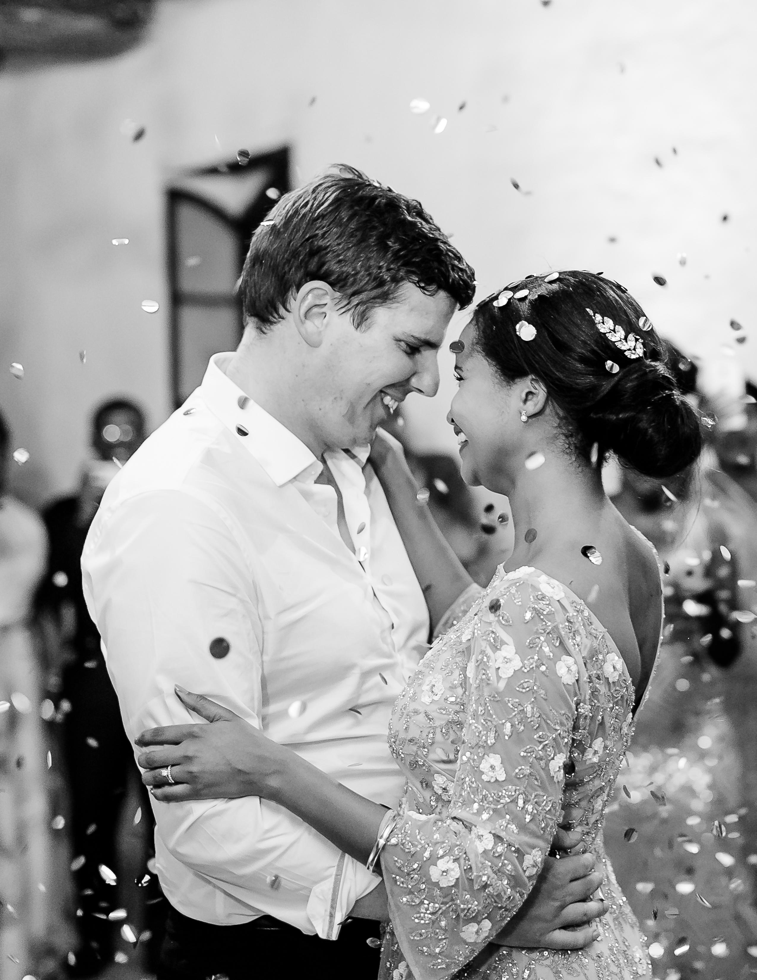 rorisang stephen wedding first dance confetti