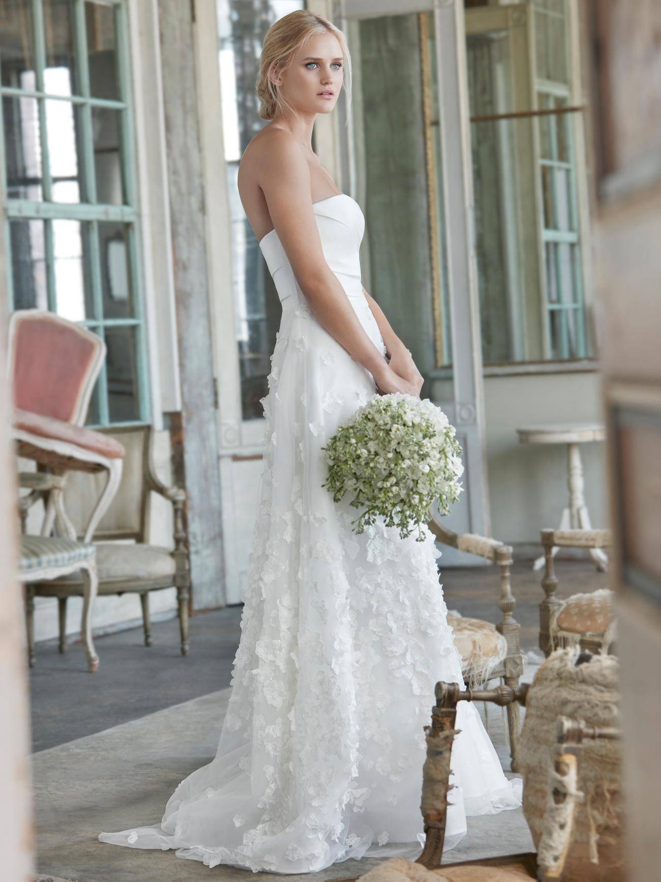 Sareh Nouri strapless applique a-line wedding dress fall 2020
