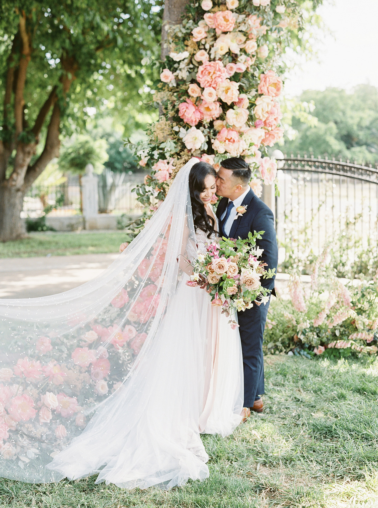This Sacramento Couple Spent Two Years Readying Their Backyard's Garden for Their Big Day
