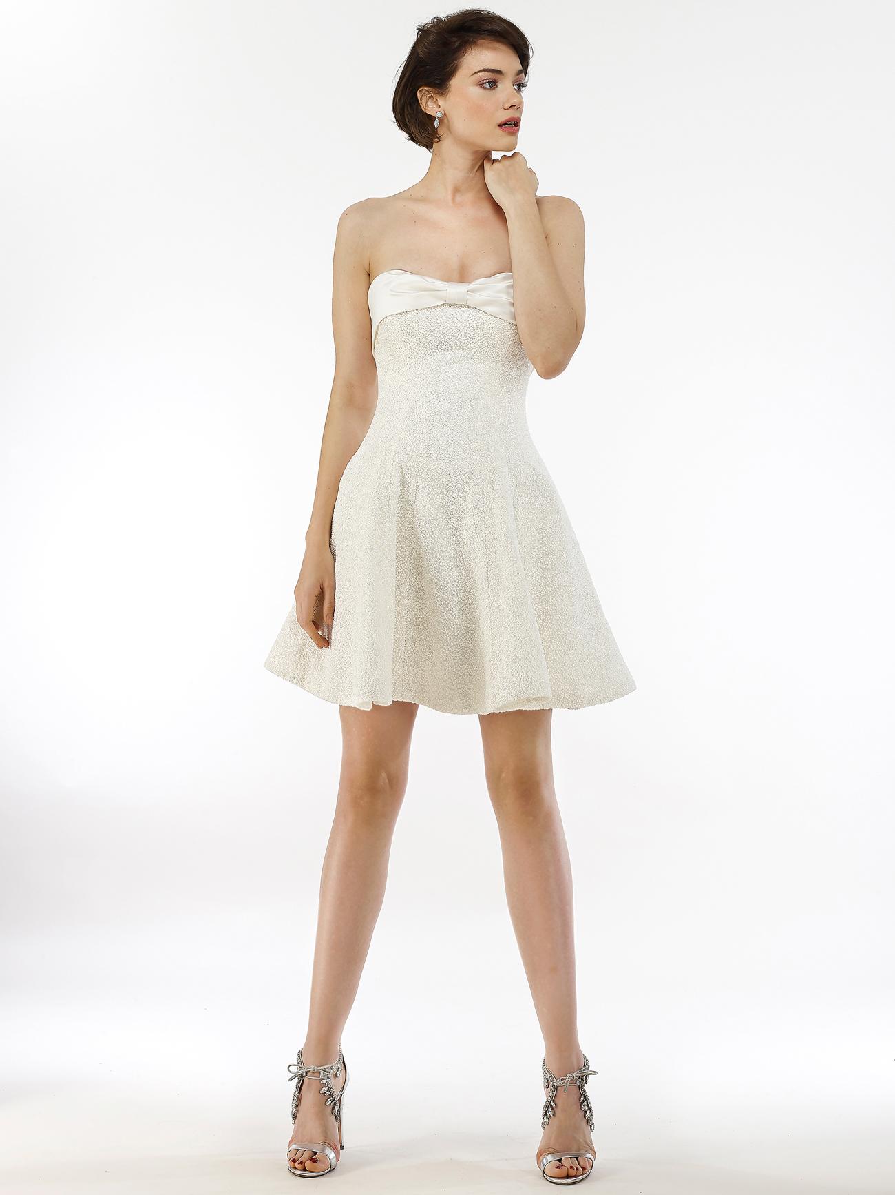 Steven Birnbaum strapless a-line mini wedding dress fall 2020