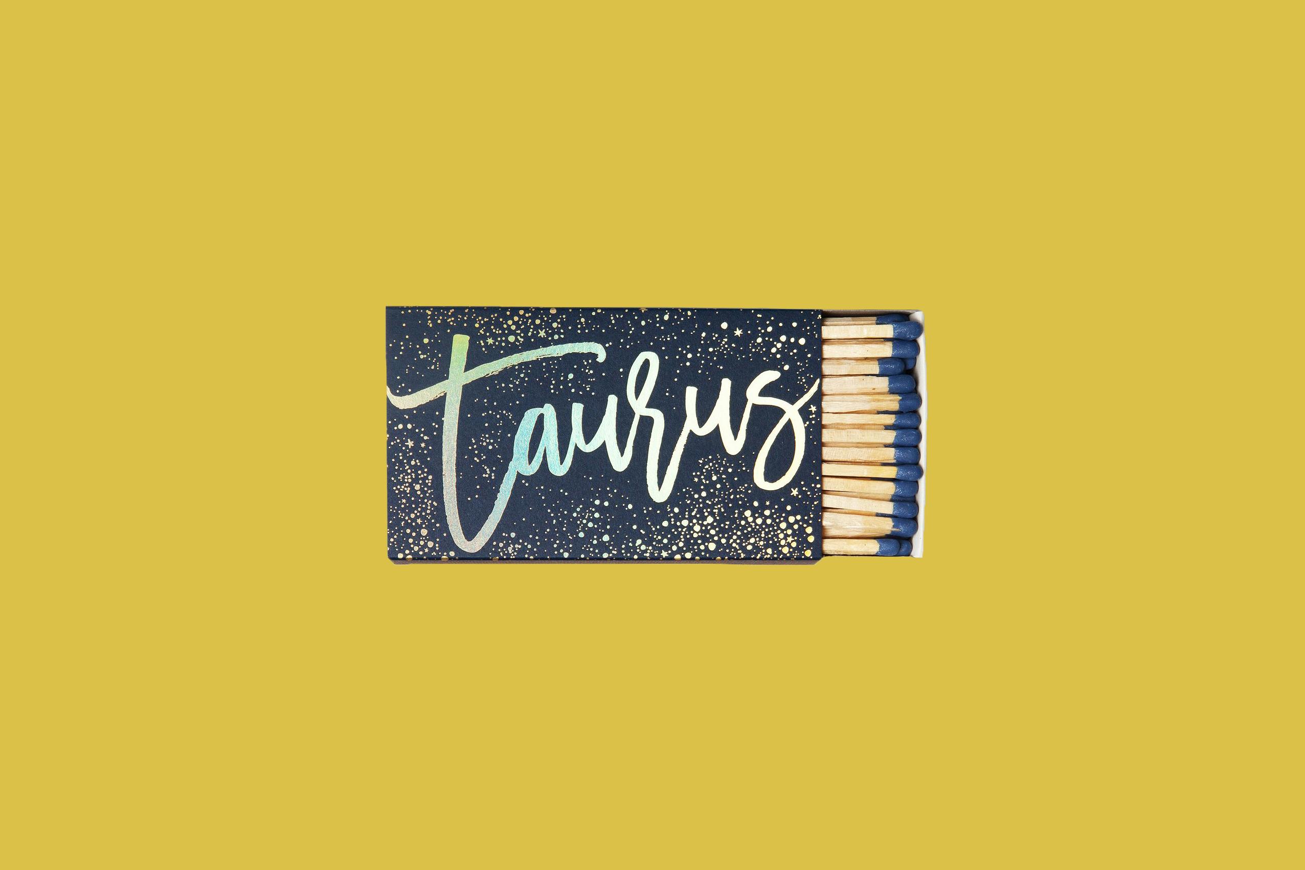 bridesmaid gift zodiac taurus matchbox